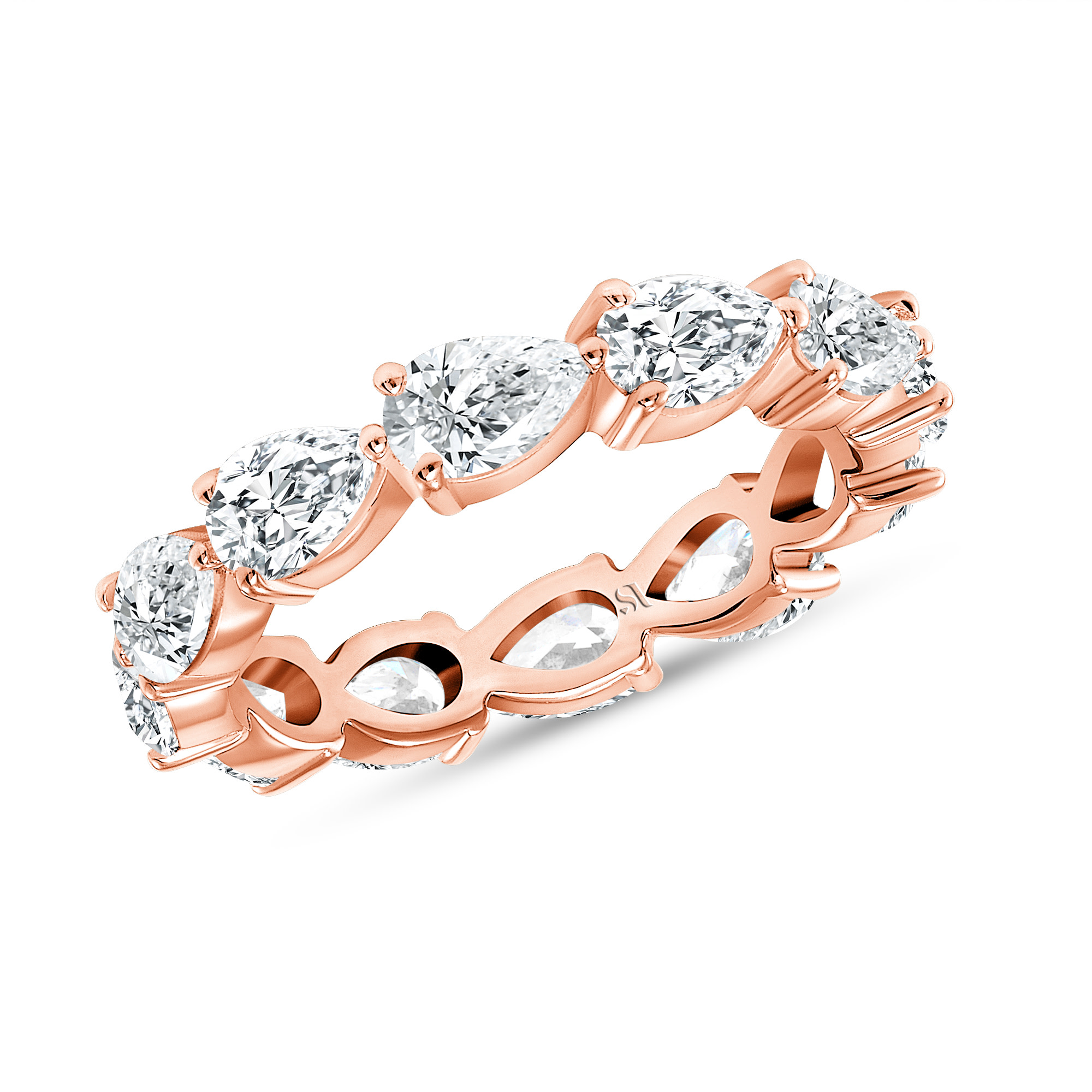 rose gold pear shaped diamond