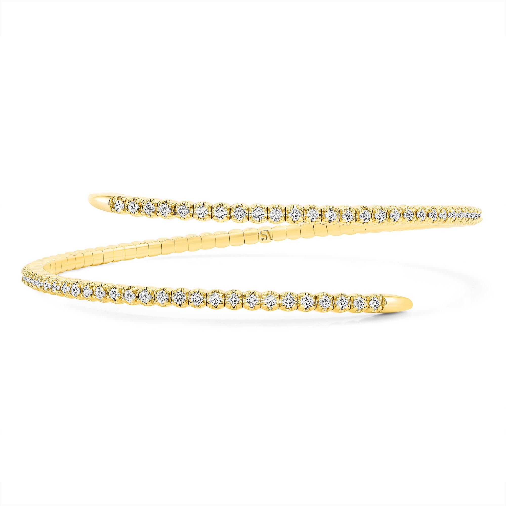 spiral flexible bangle bracelet