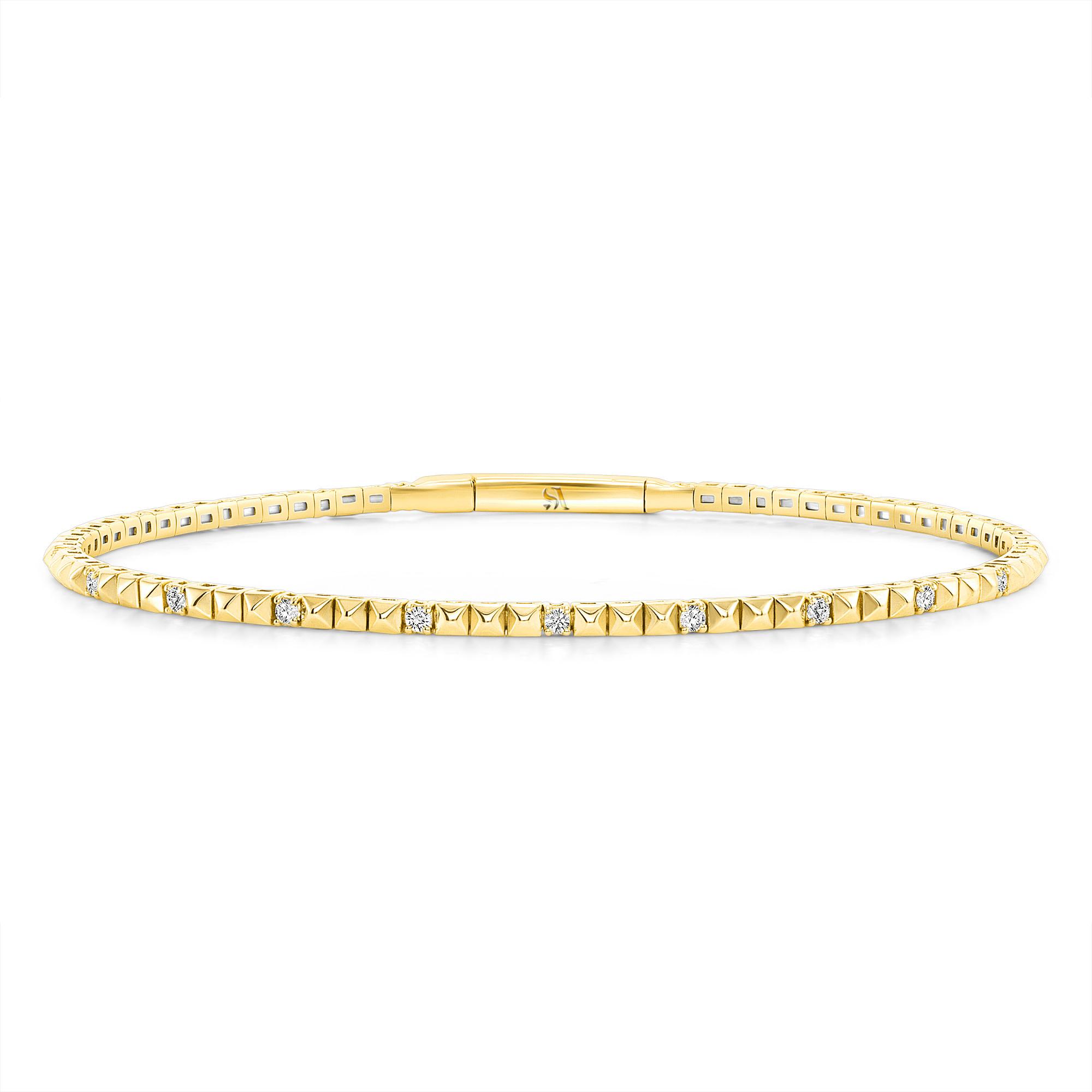pyramid bracelet gold