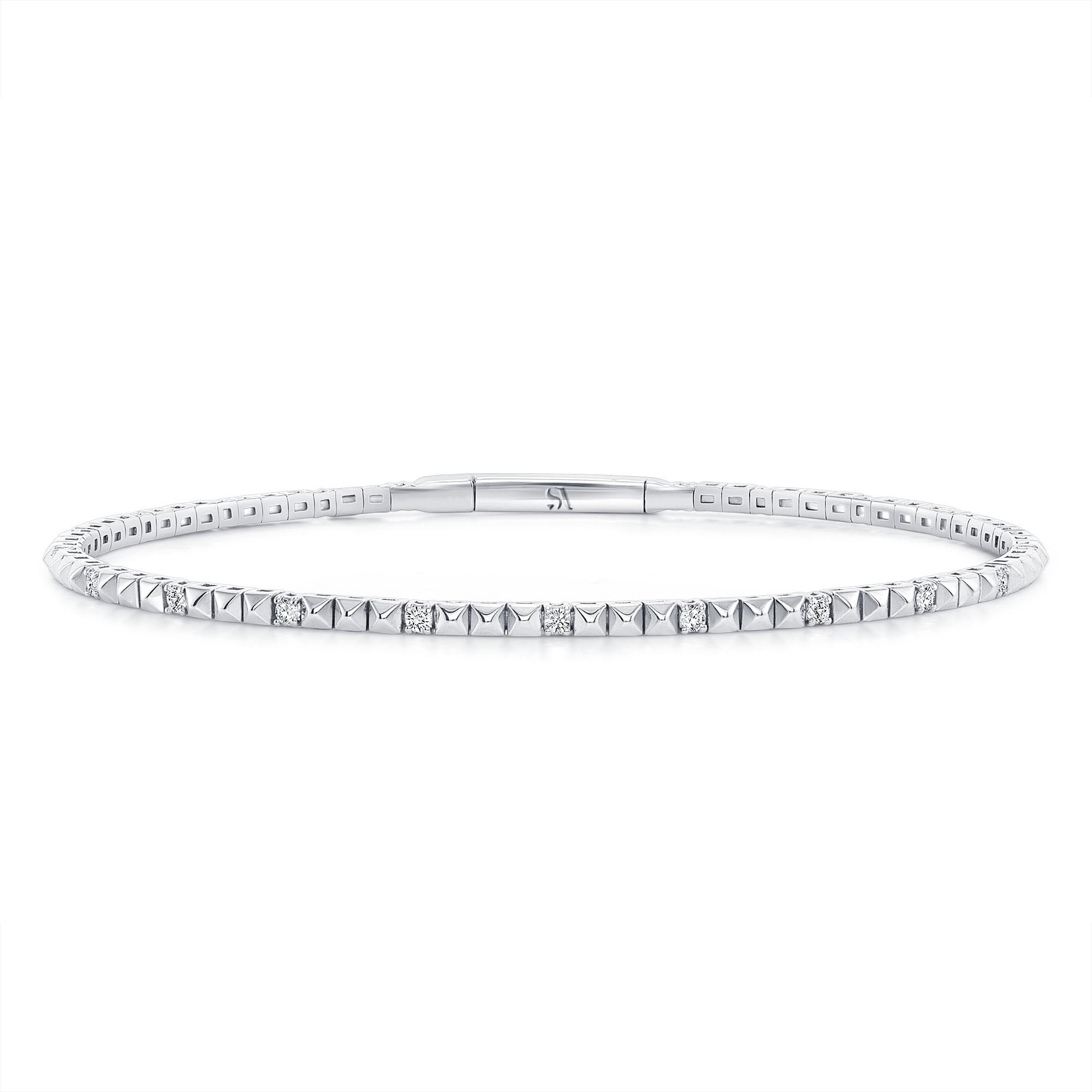 pyramid bracelet white gold