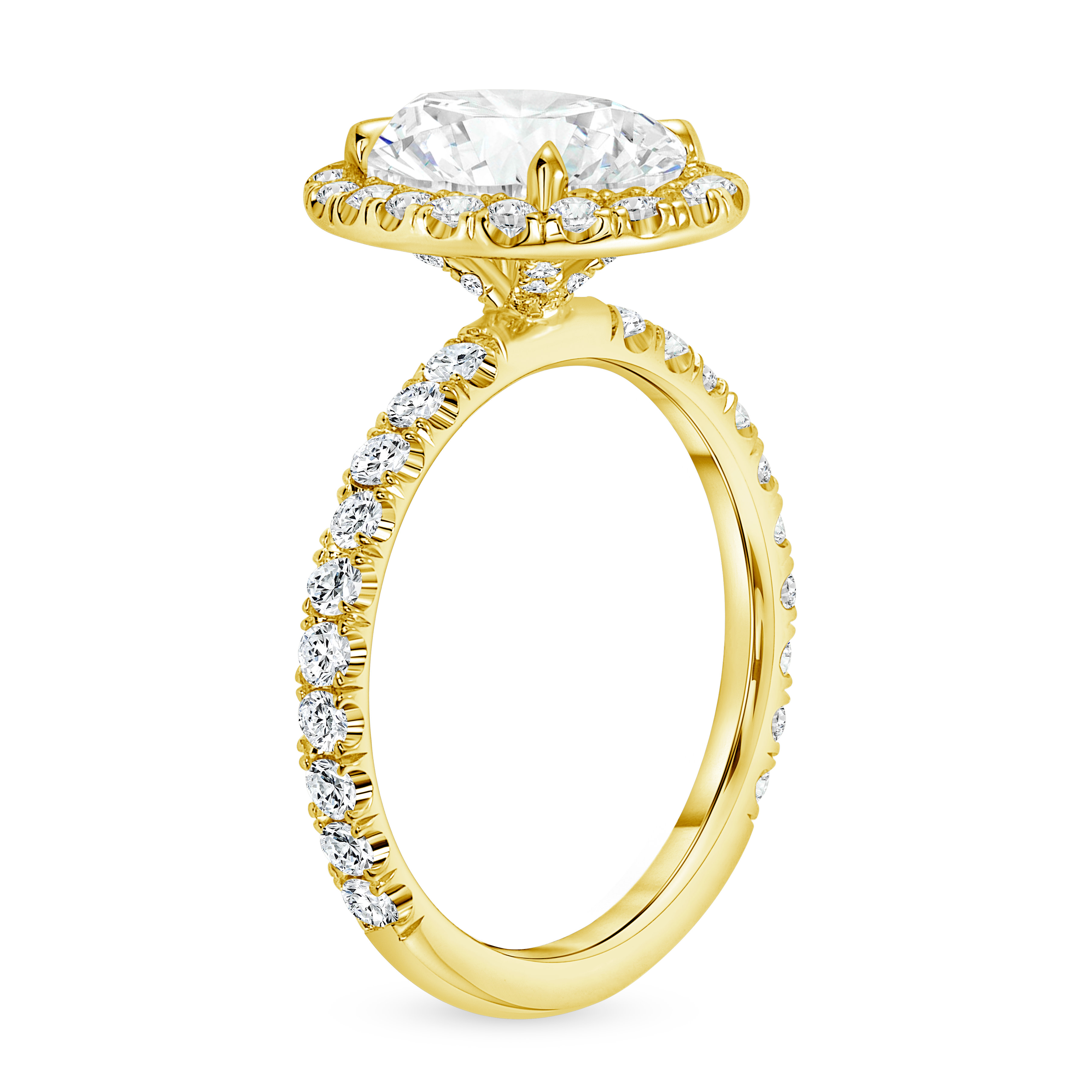 oval diamond halo engagement ring gold