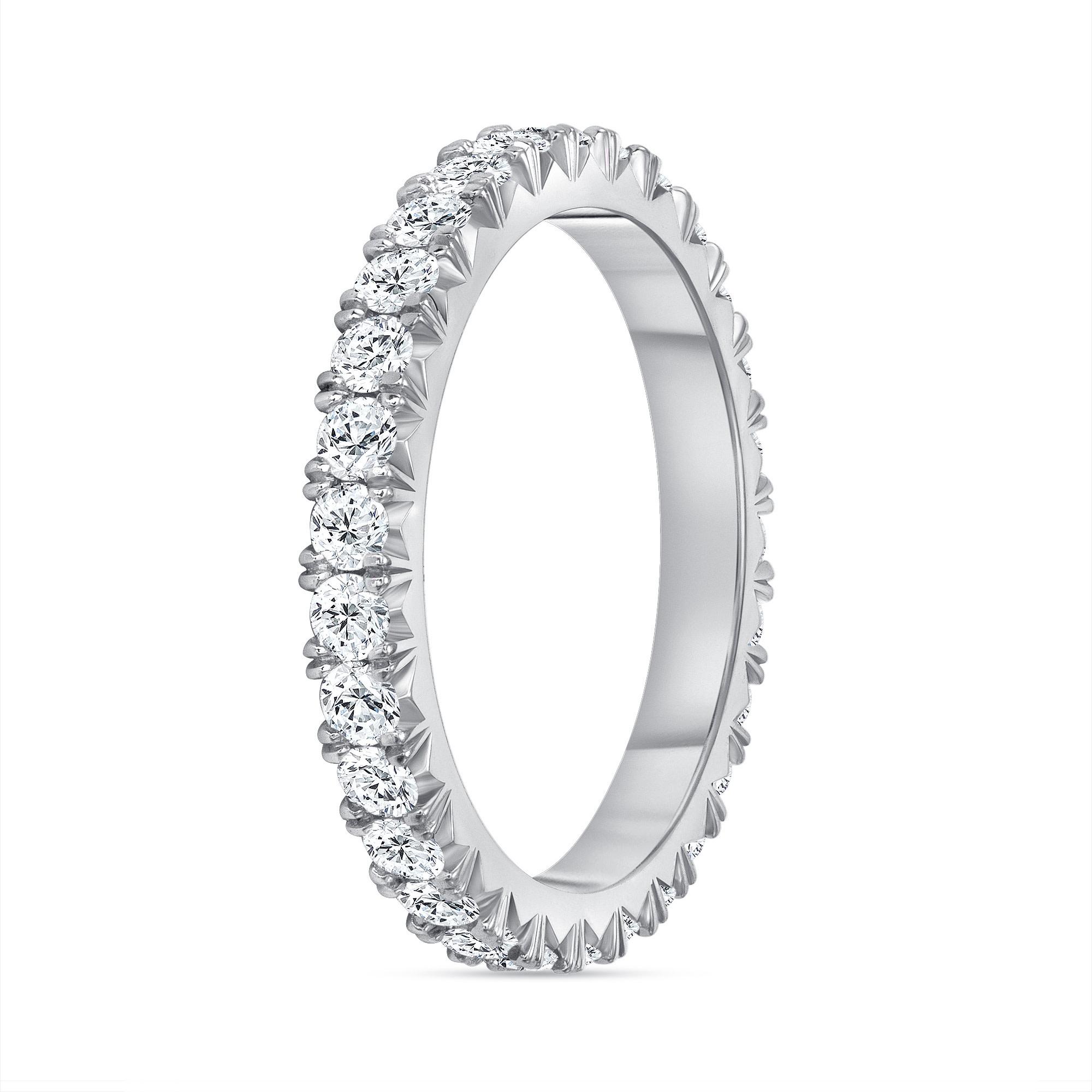 diamond platinum wedding ring white gold