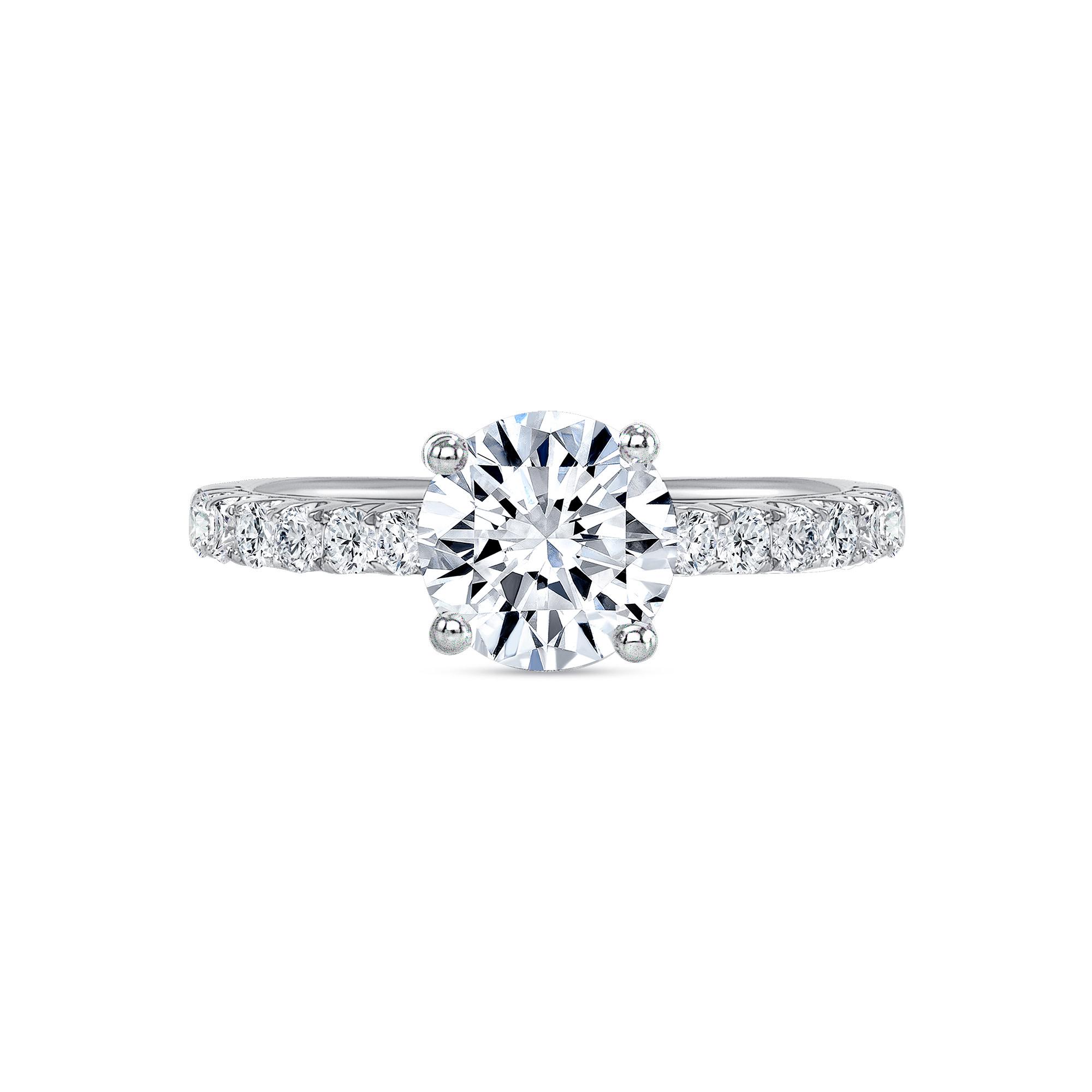 classic round diamond engagement ring white gold