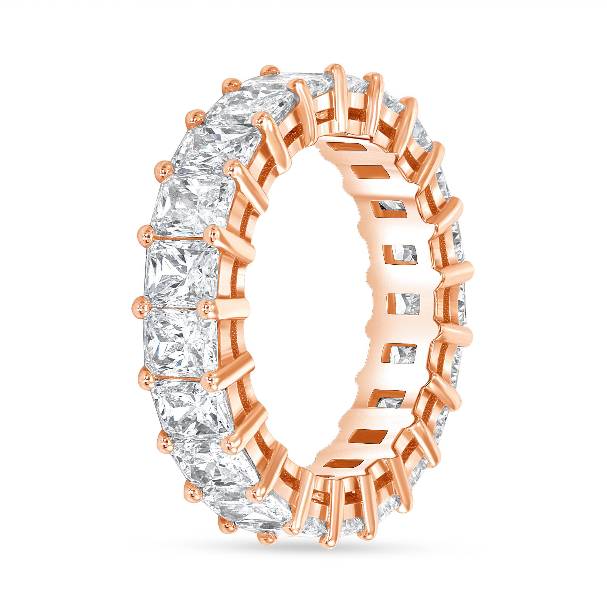radiant diamond ring rose gold