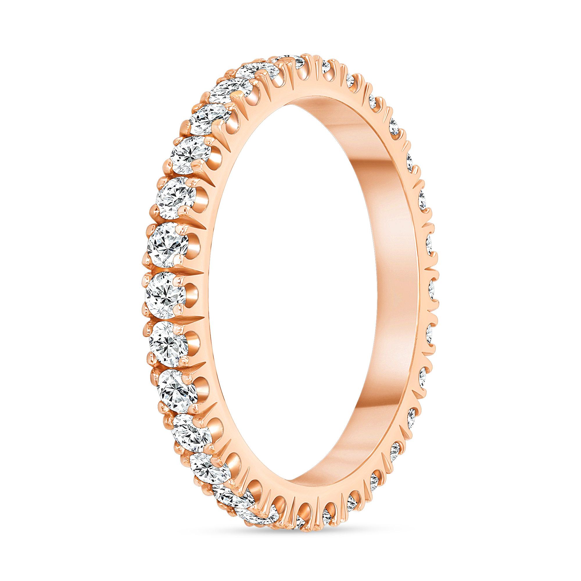 classic diamond ring rose gold