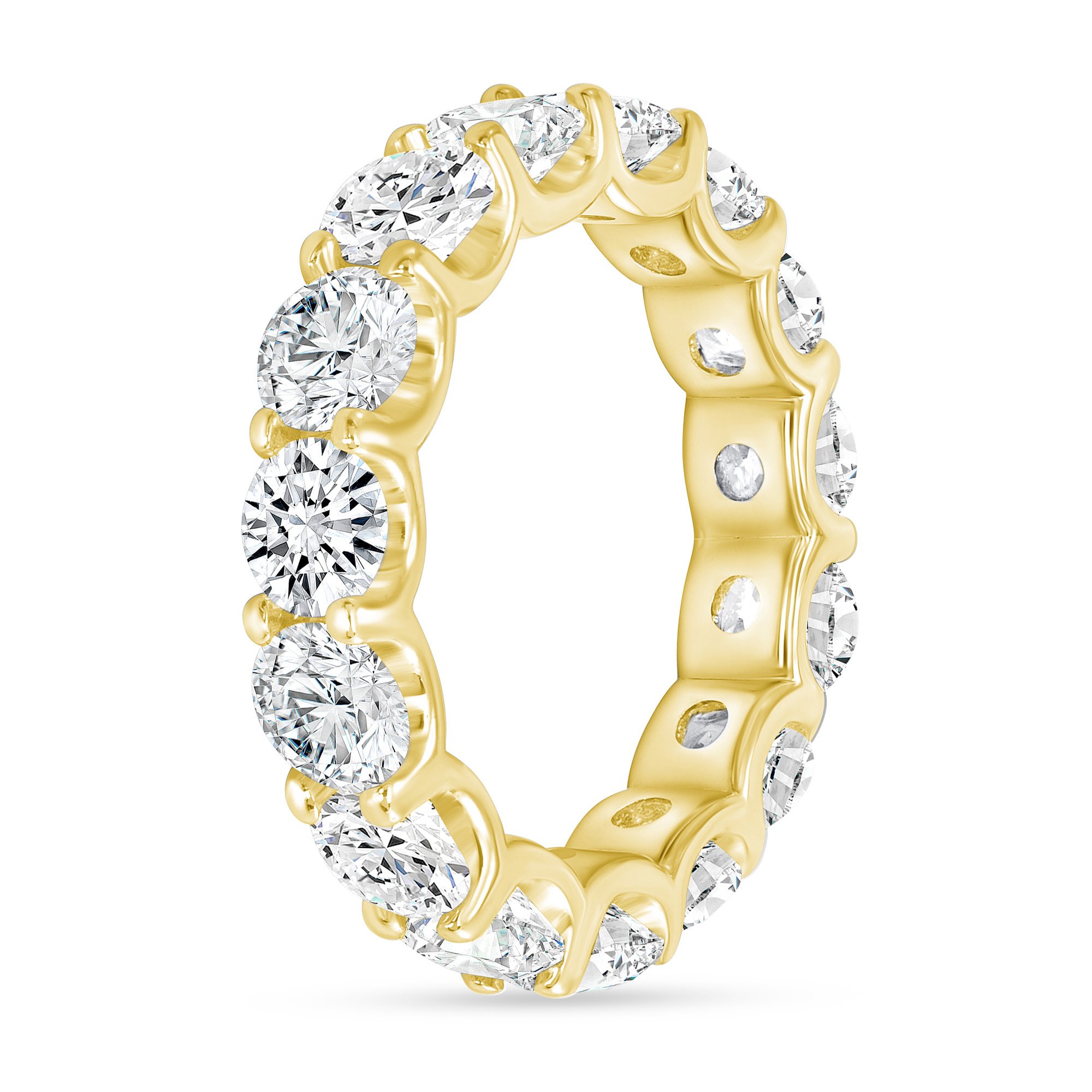 diamond stackable wedding ring gold