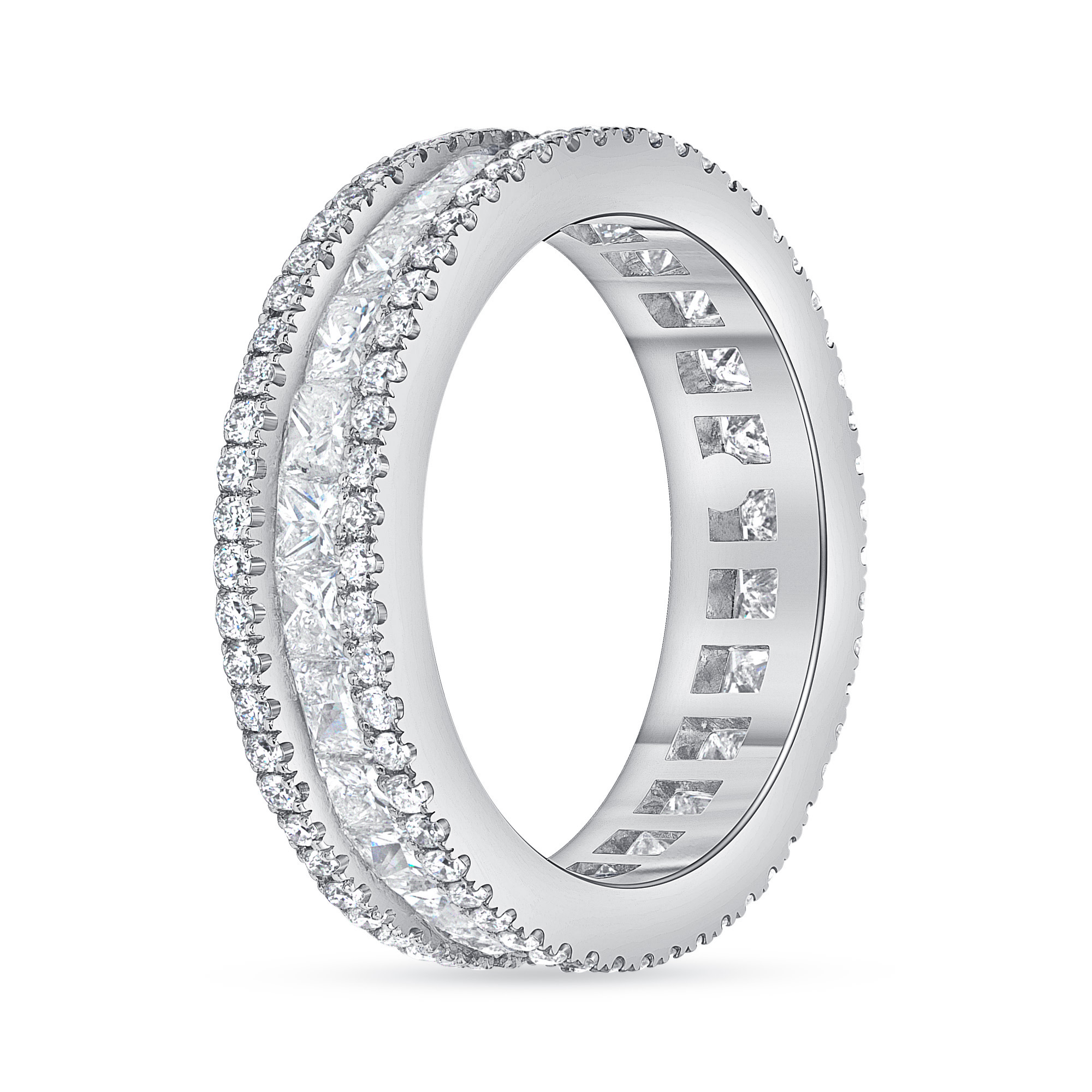 princess diamond wedding ring white gold