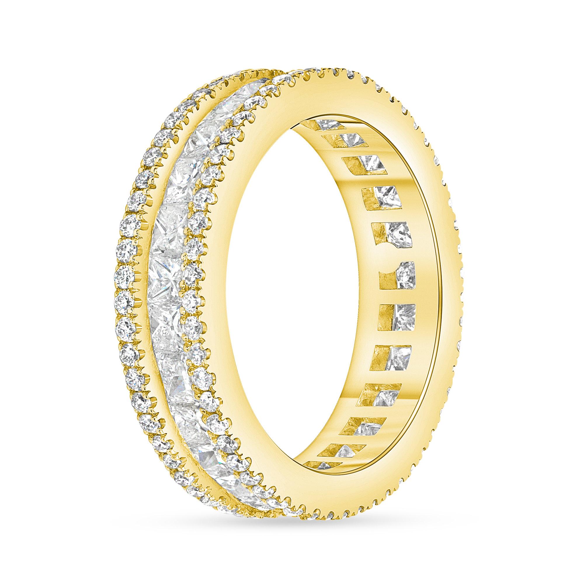princess diamond wedding ring gold