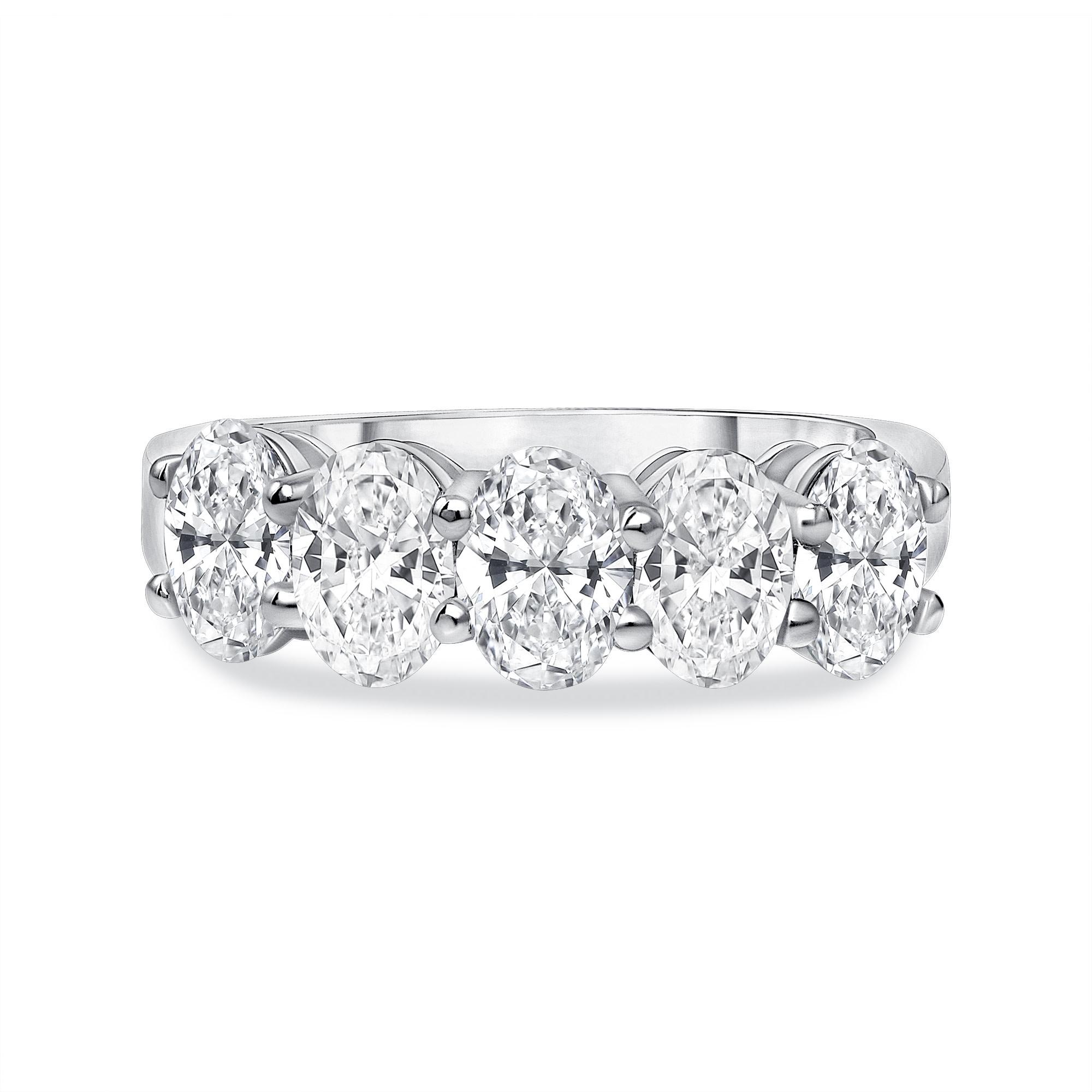 oval diamond wedding ring white gold