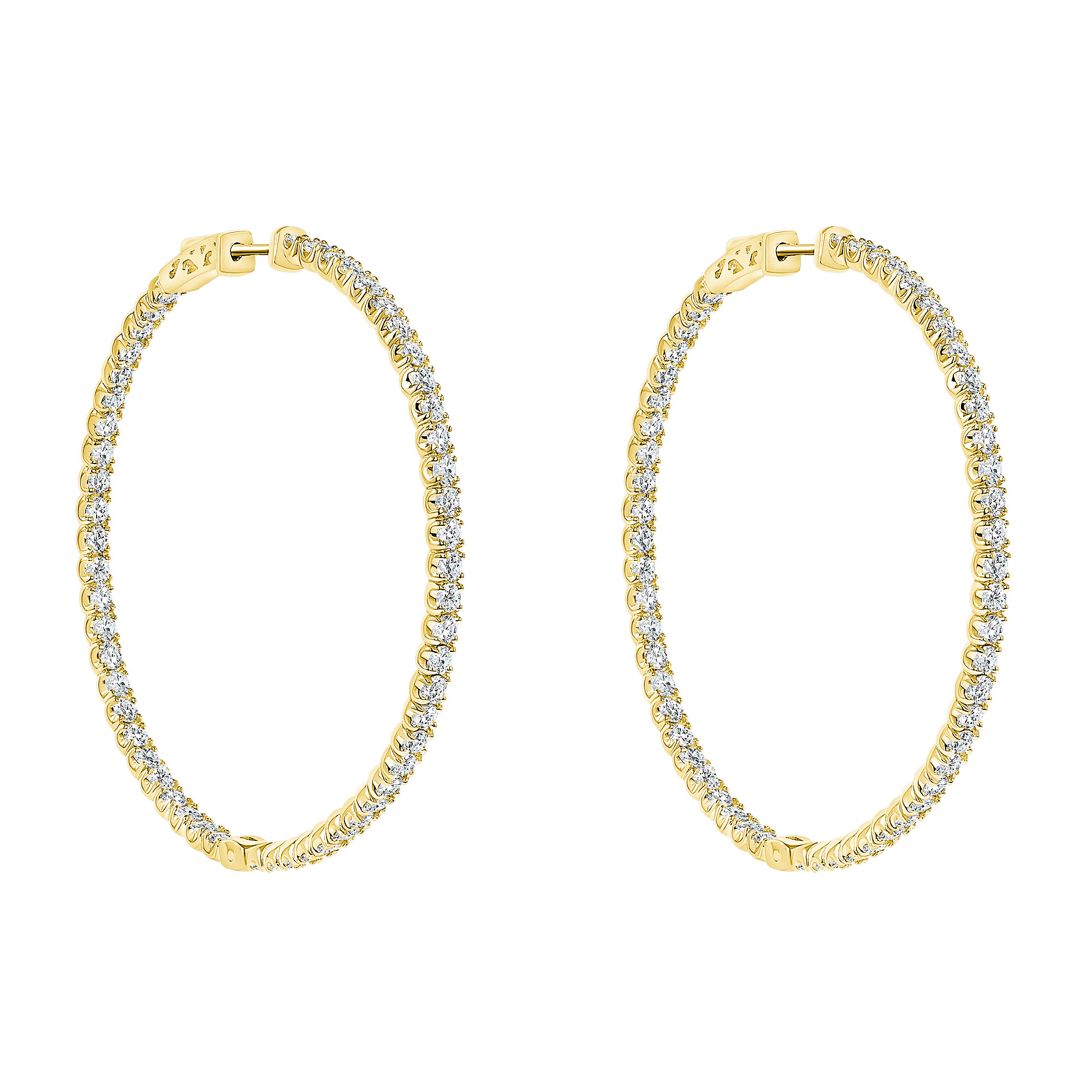rose gold diamond hoop earrings | small diamond hoops earrings | diamond hoop earrings