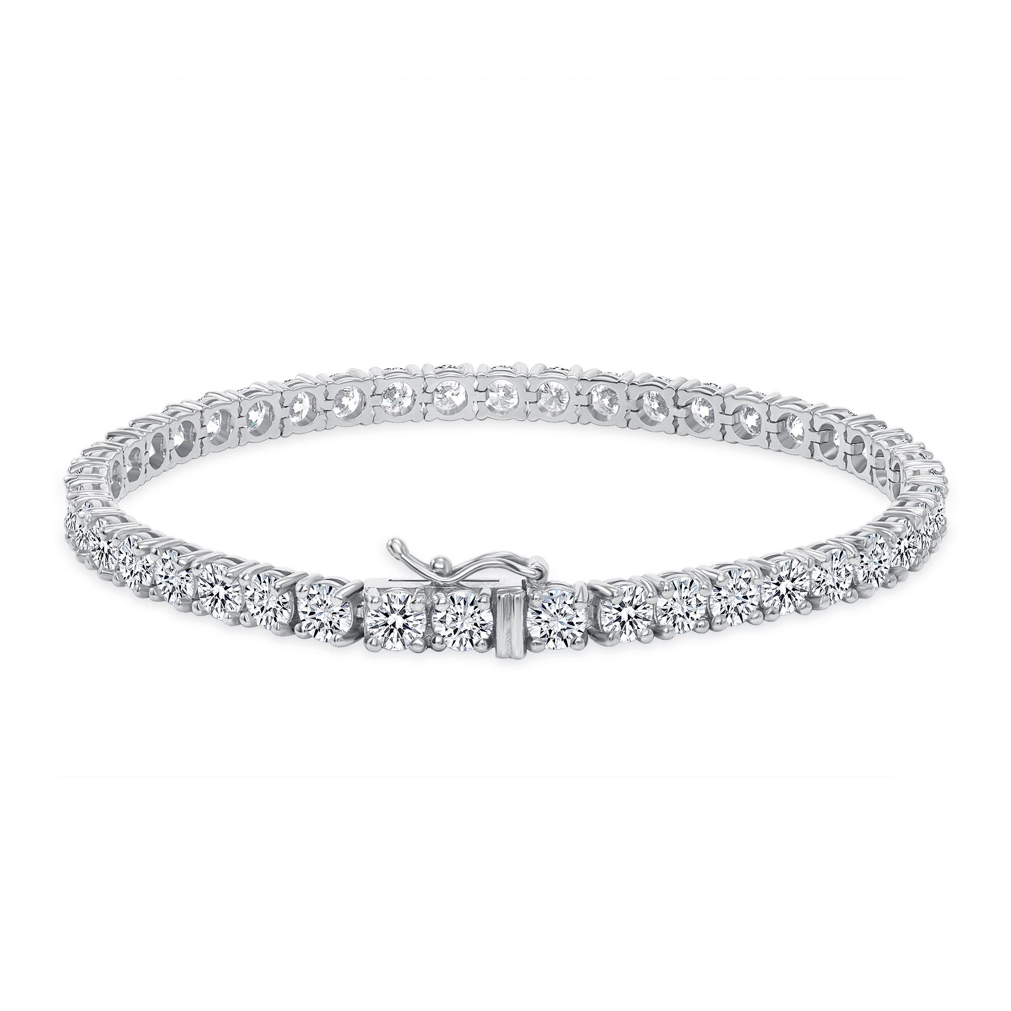 14k white gold tennis bracelets