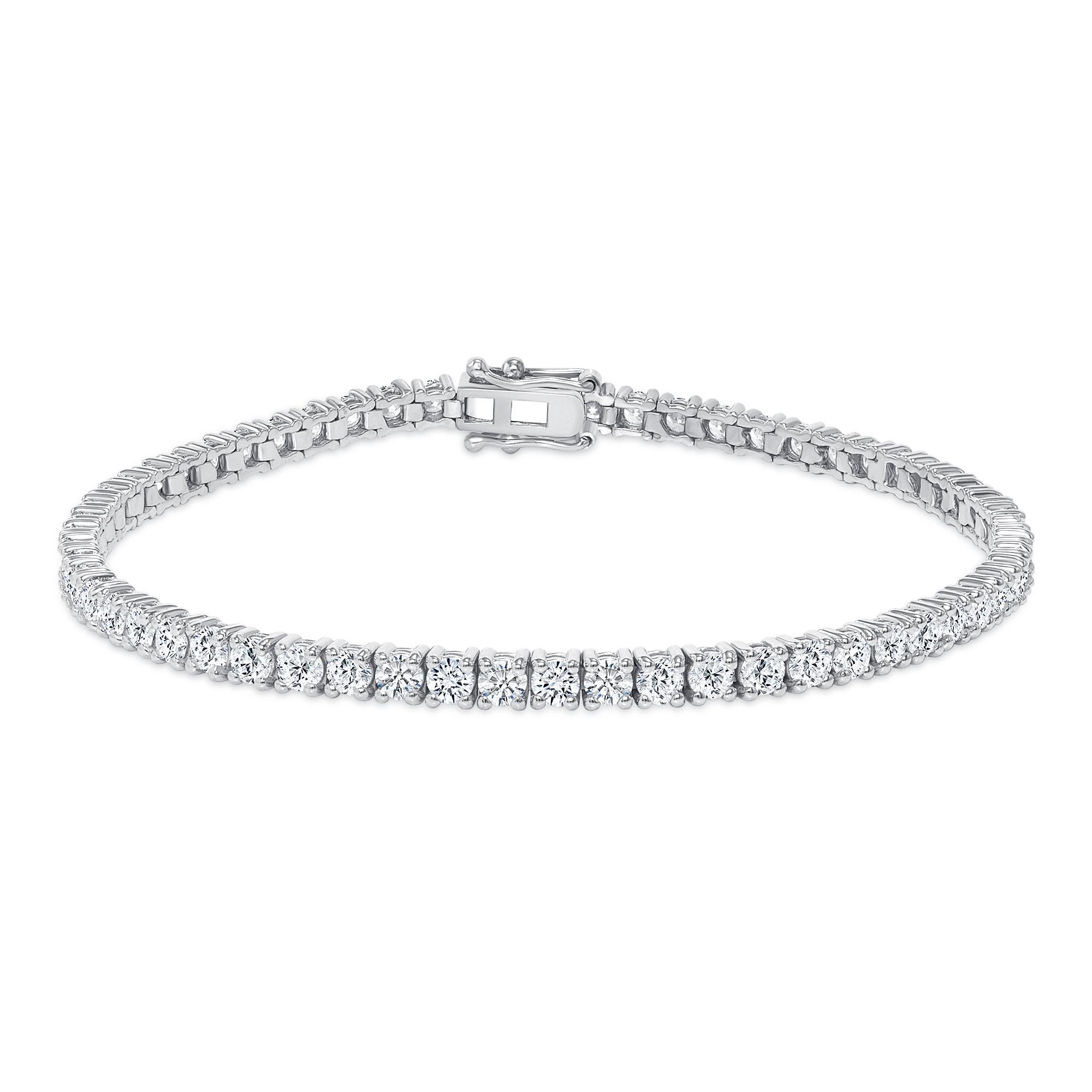 14k white gold diamond tennis bracelets