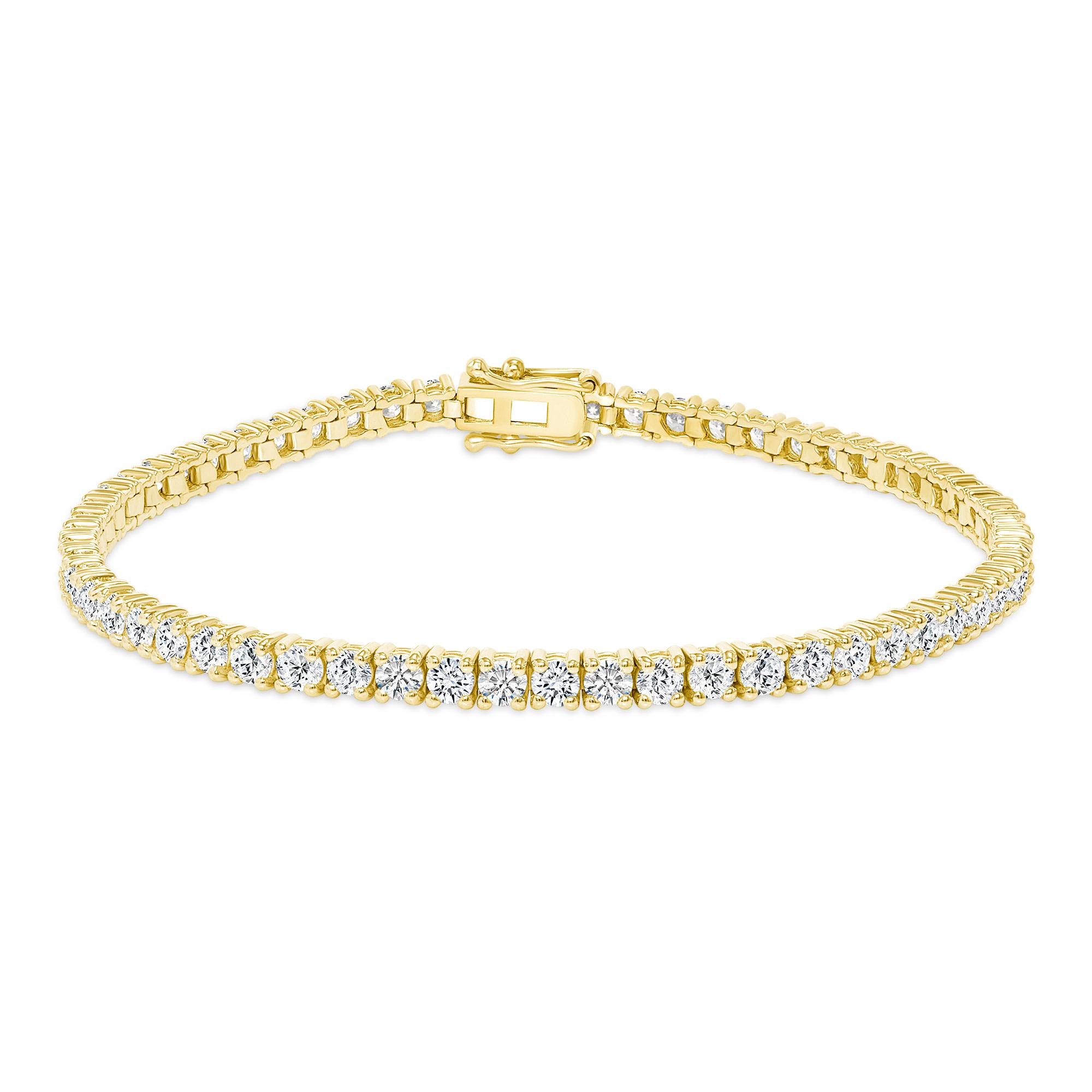 14k gold diamond tennis bracelets
