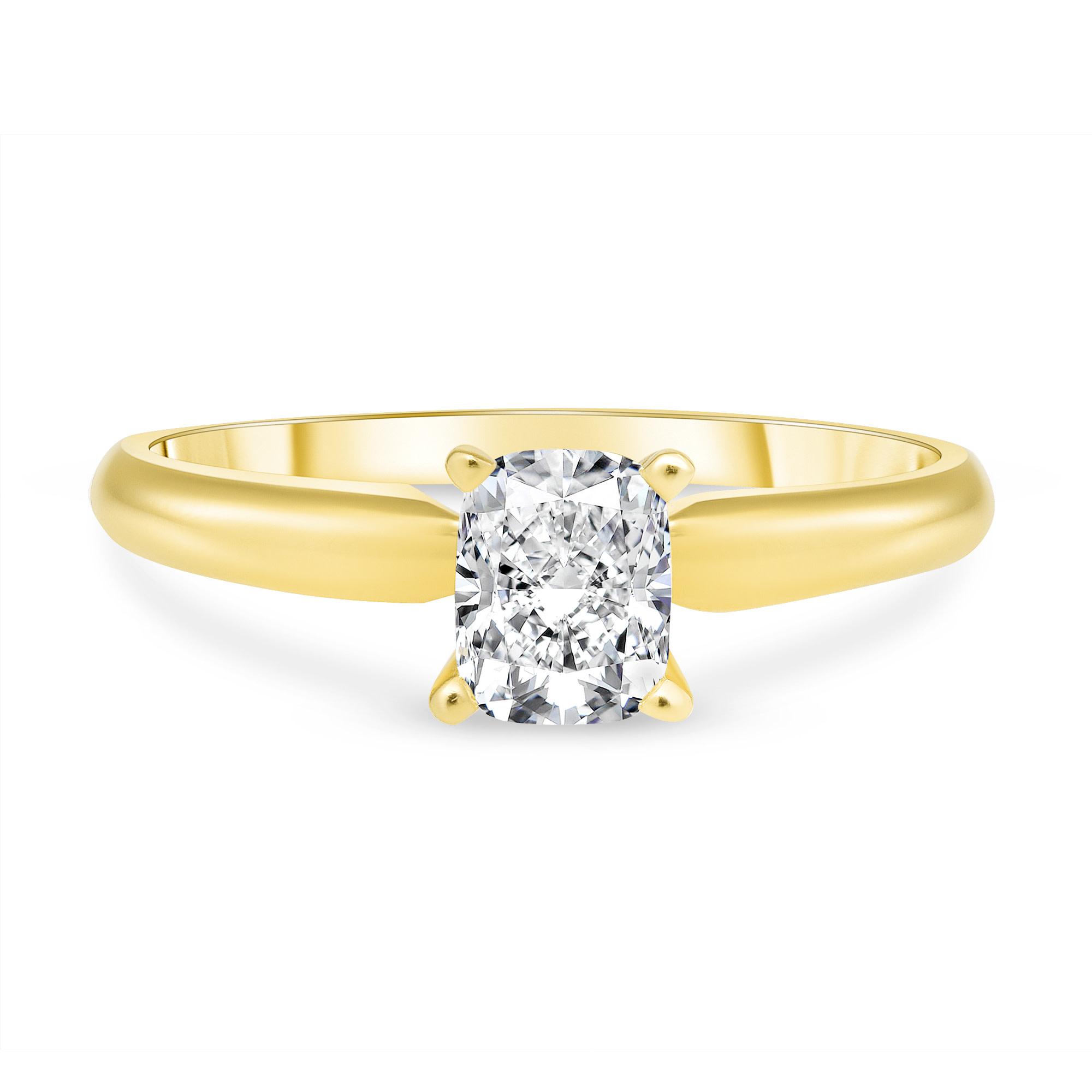 cushion cut diamond engagement ring | Diamond Collection