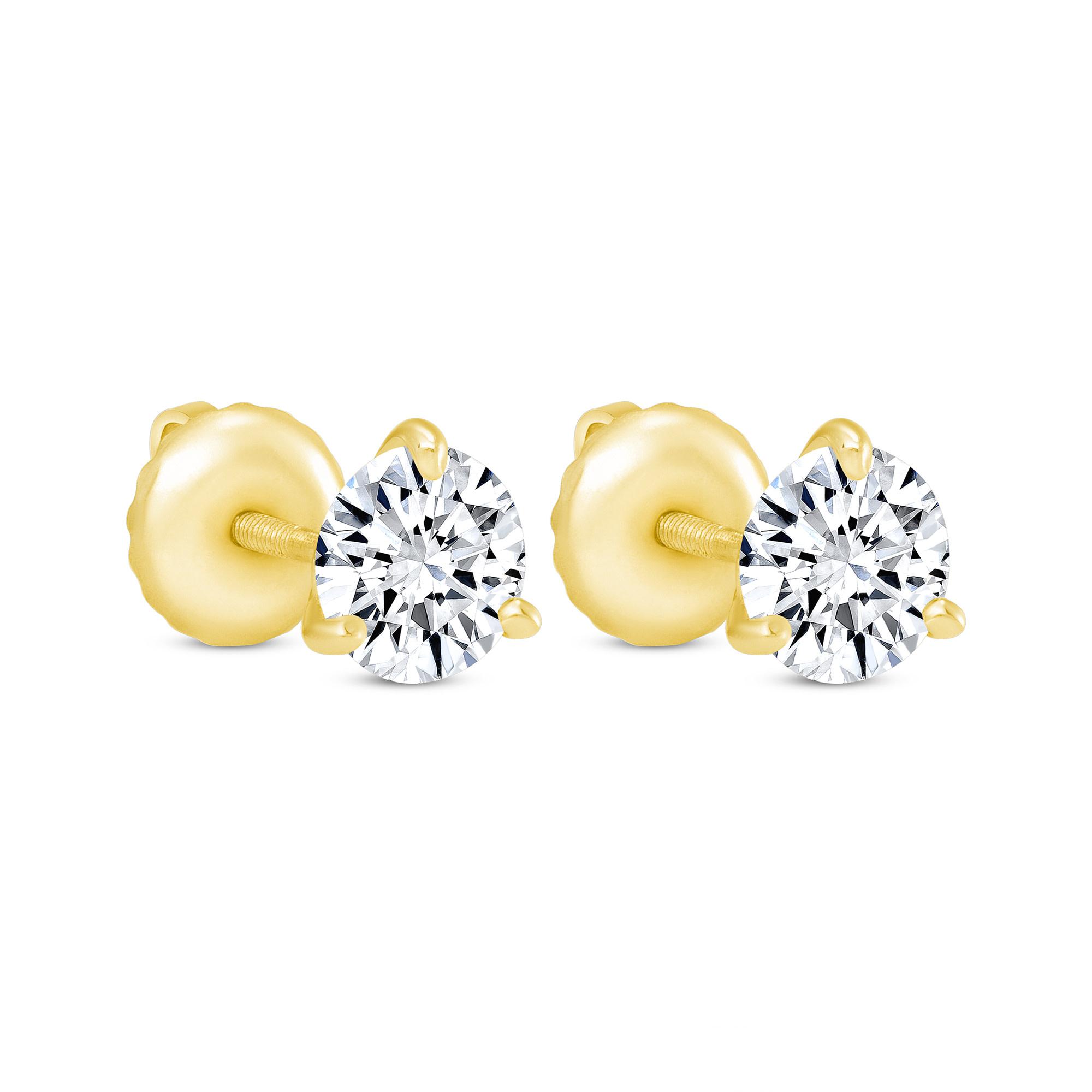1.5 carat total weight diamond earrings   1.5 carat total weight diamond stud earrings