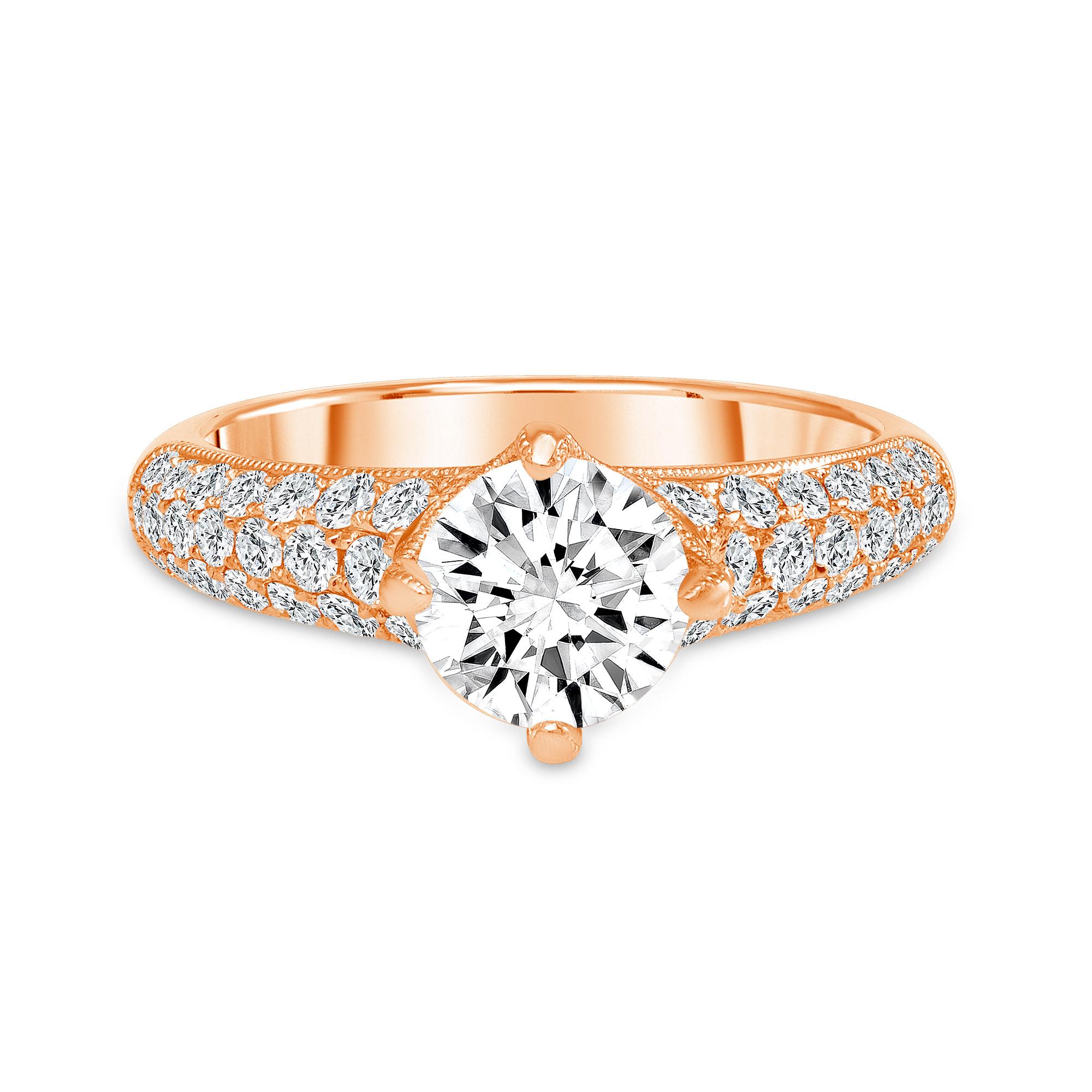 1.65 carat diamond ring rose gold