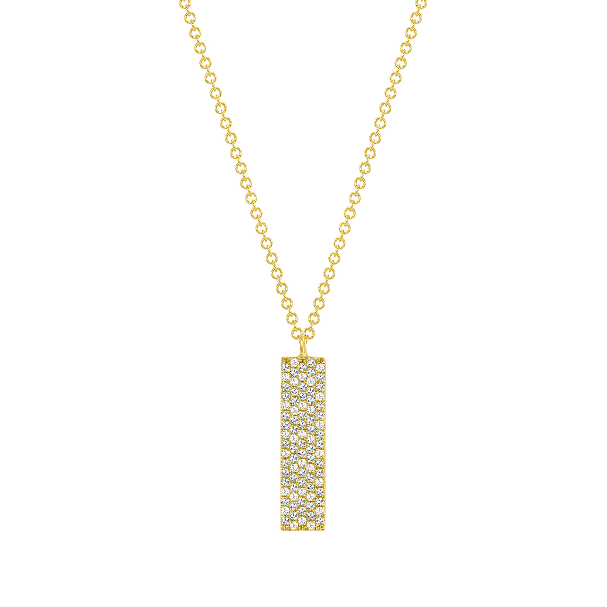 vertical bar necklace | vertical bar pendant
