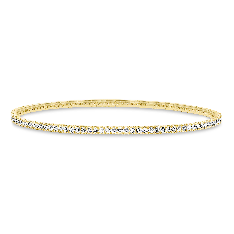 small diamond bangle gold