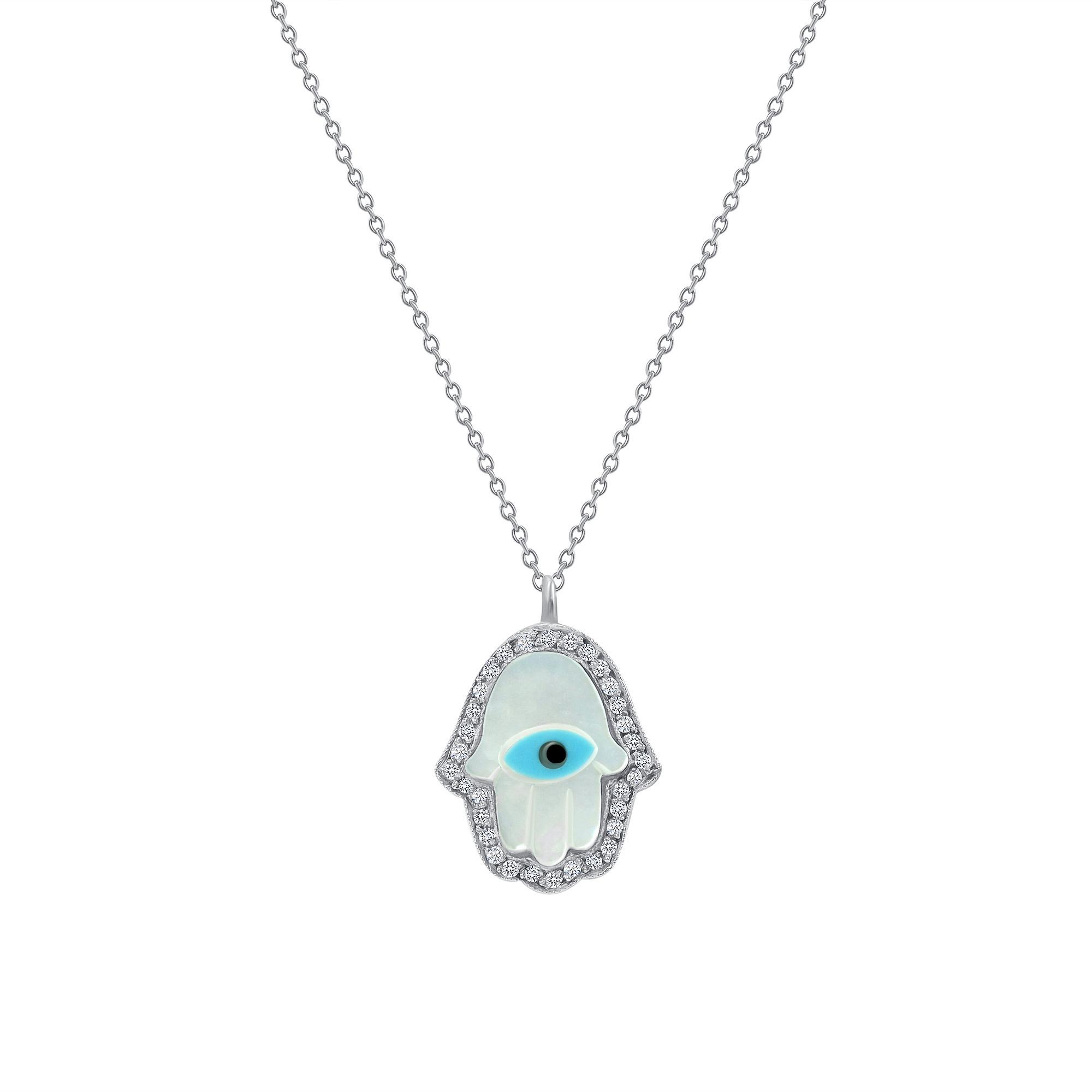 diamond evil eye necklace white gold