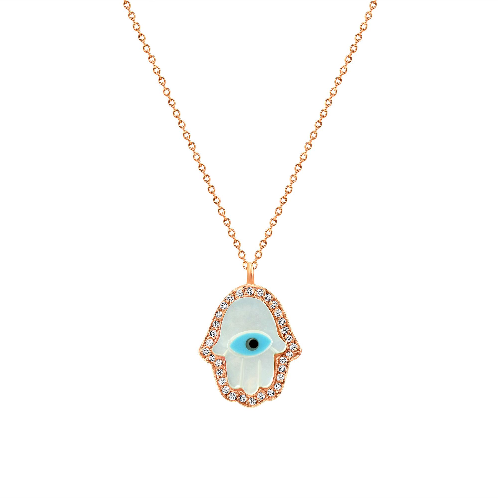 diamond evil eye necklace | evil eye diamond necklace