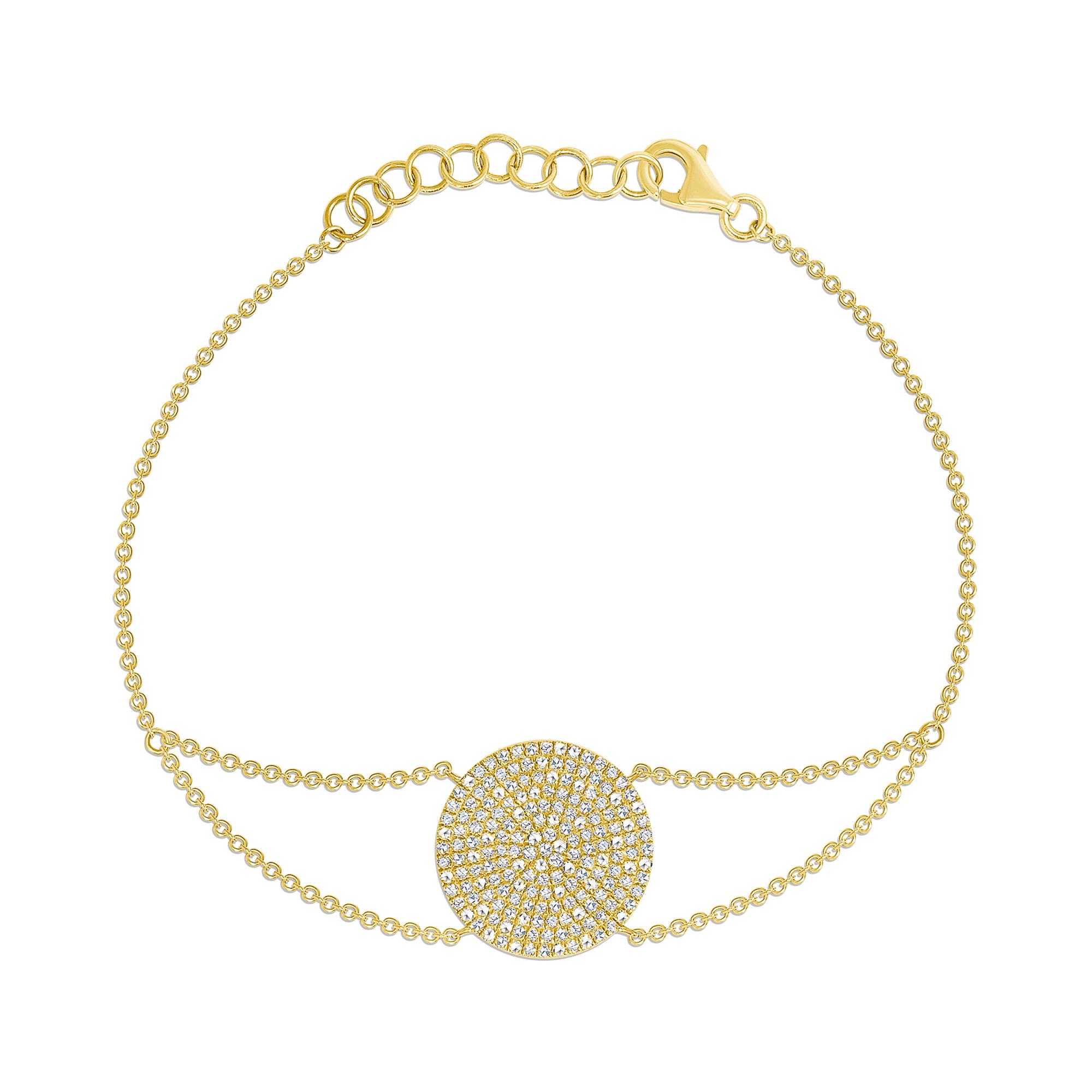 Diamond circle bracelet gold