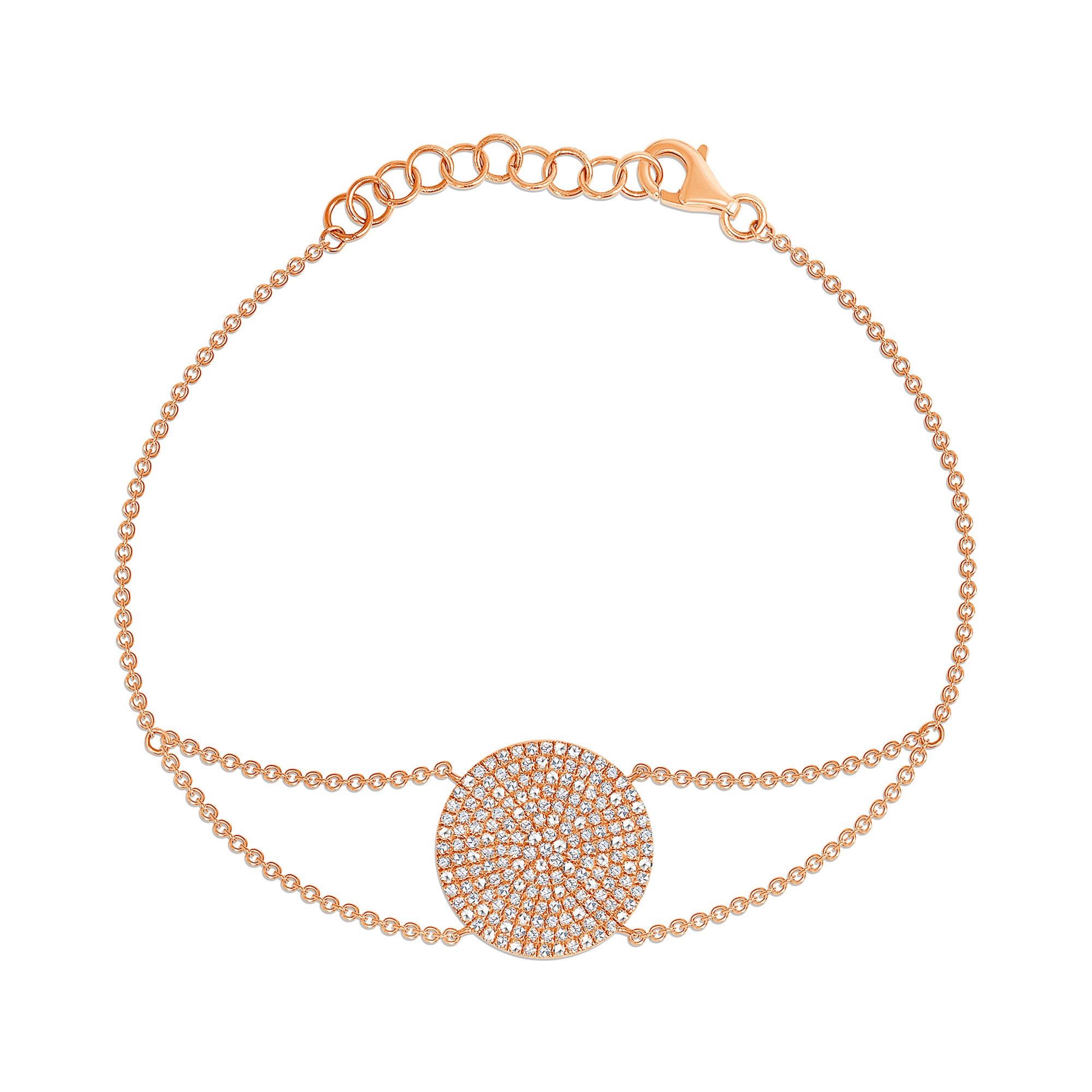 Diamond circle bracelet rose gold