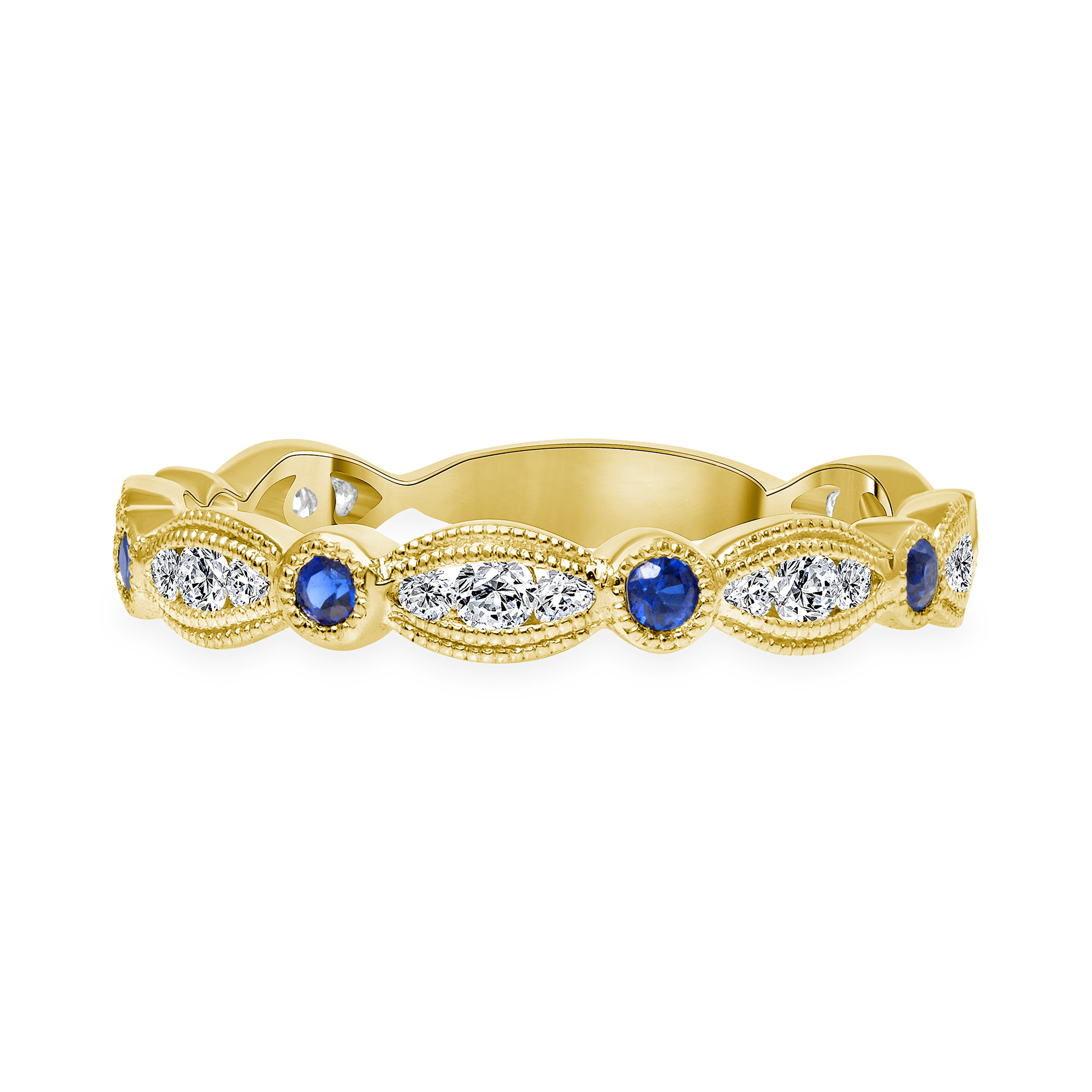diamond blue sapphire wedding ring | diamond and sapphire wedding ring