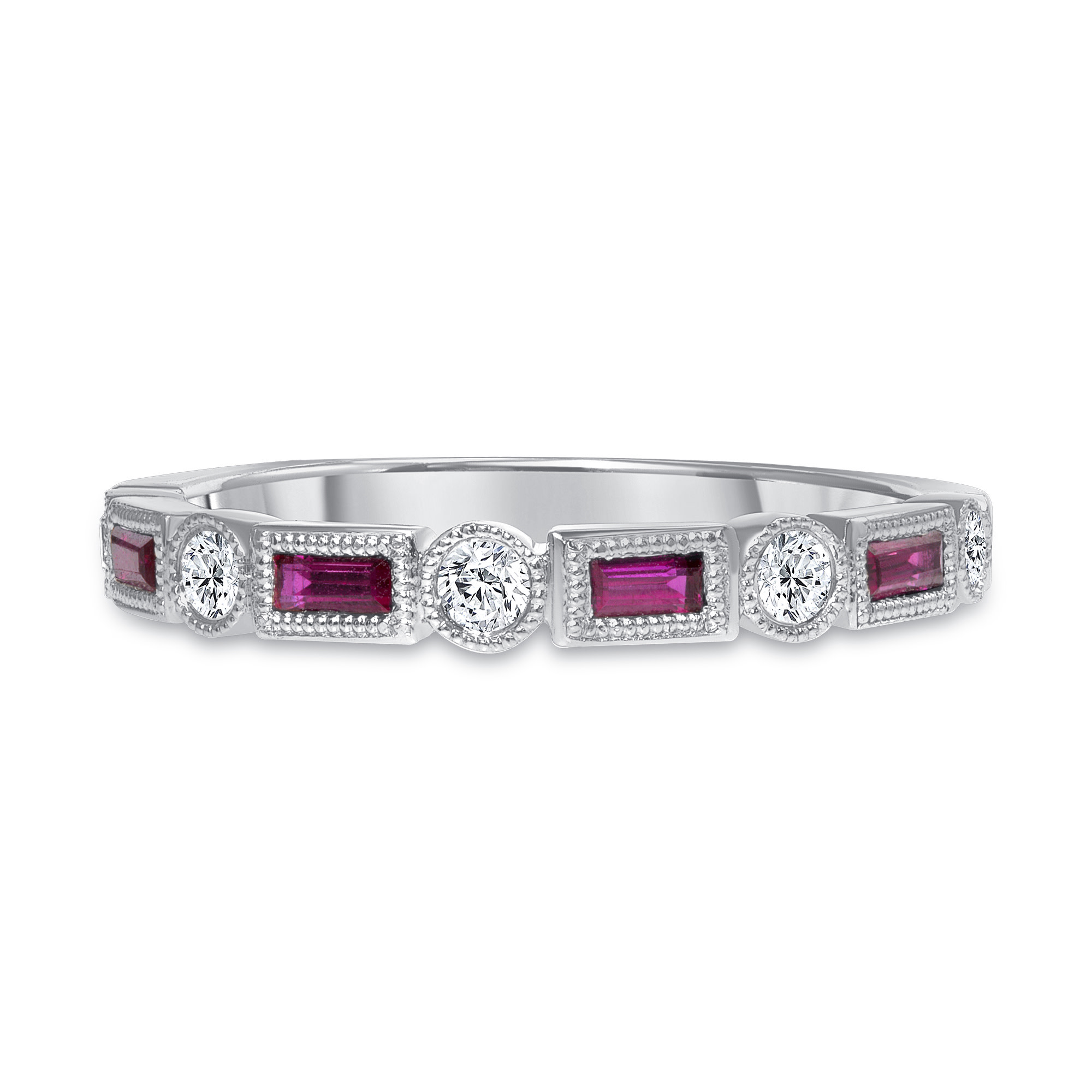 rectangle ruby ring
