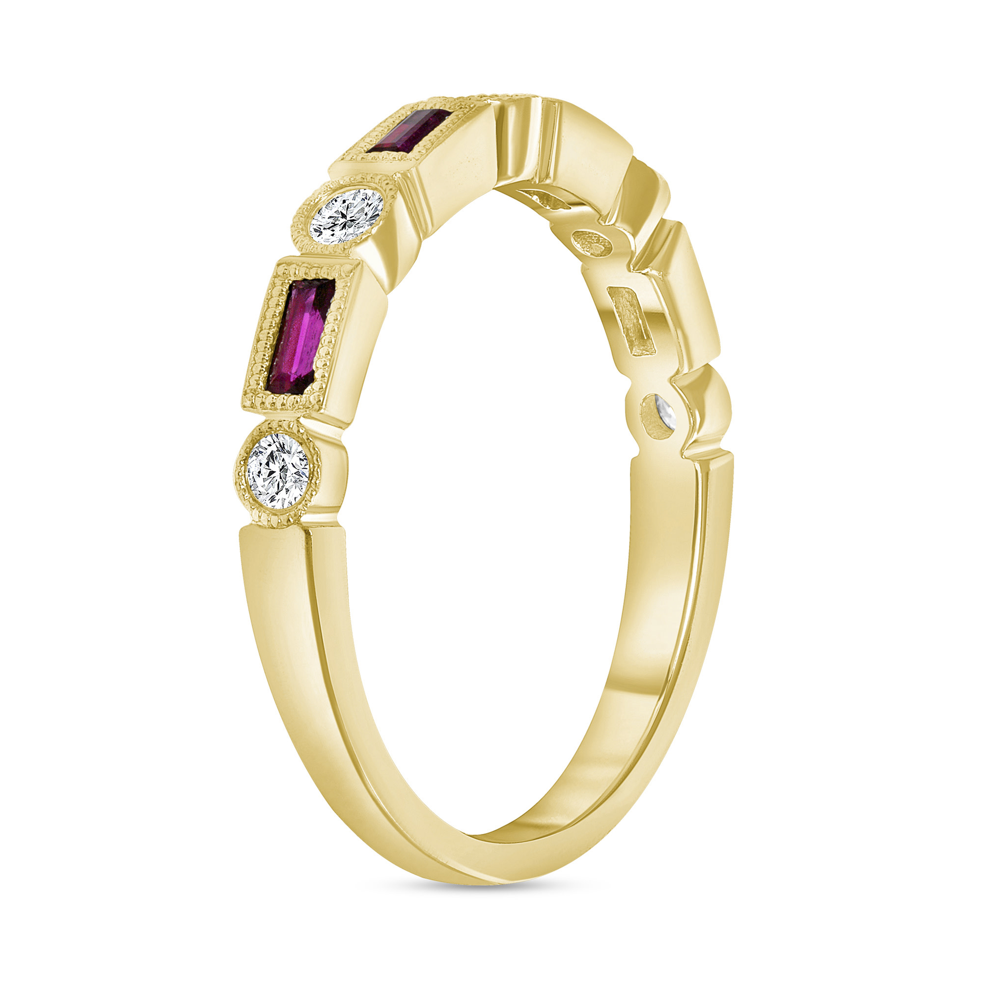 rectangle ruby ring gold