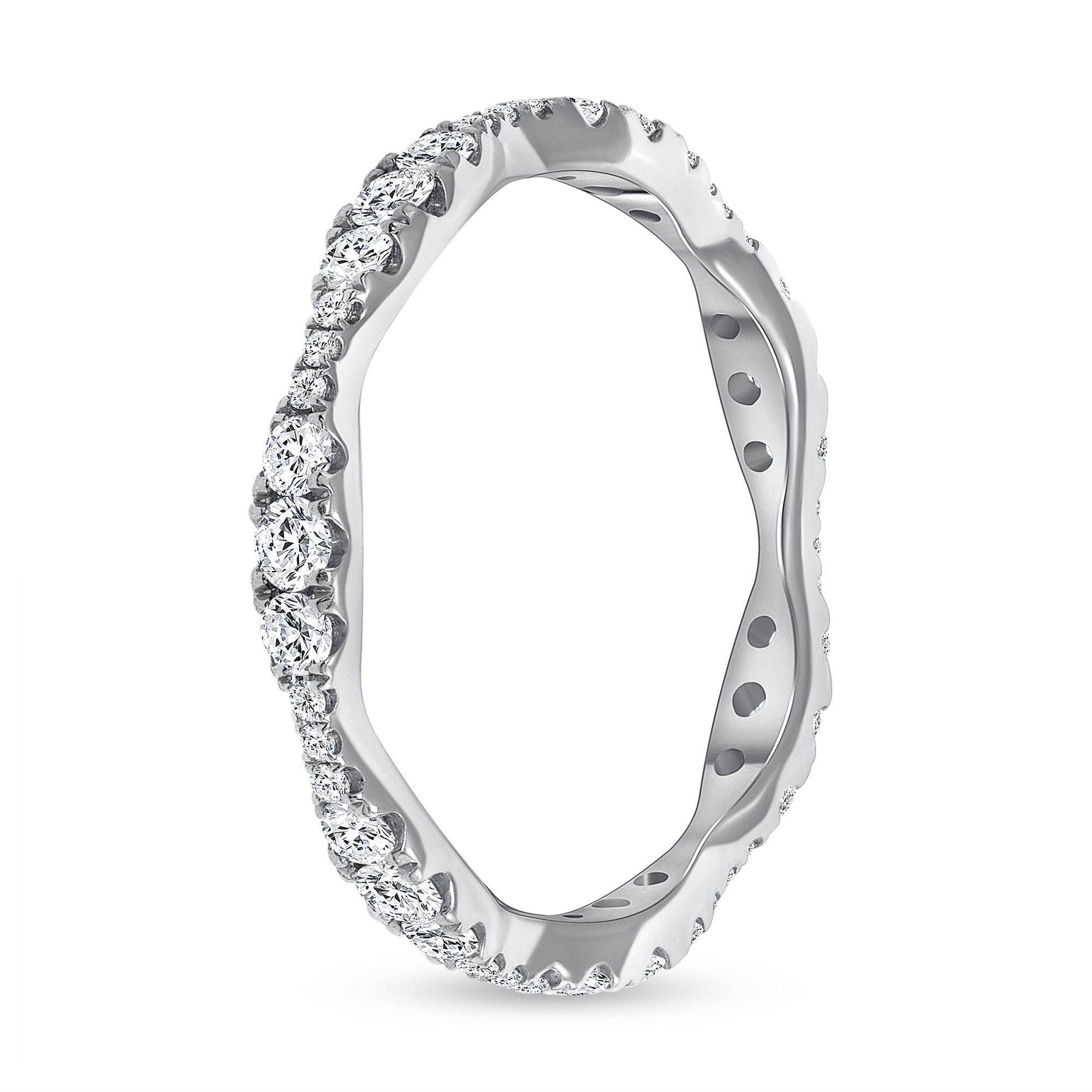 wave wedding ring narrow
