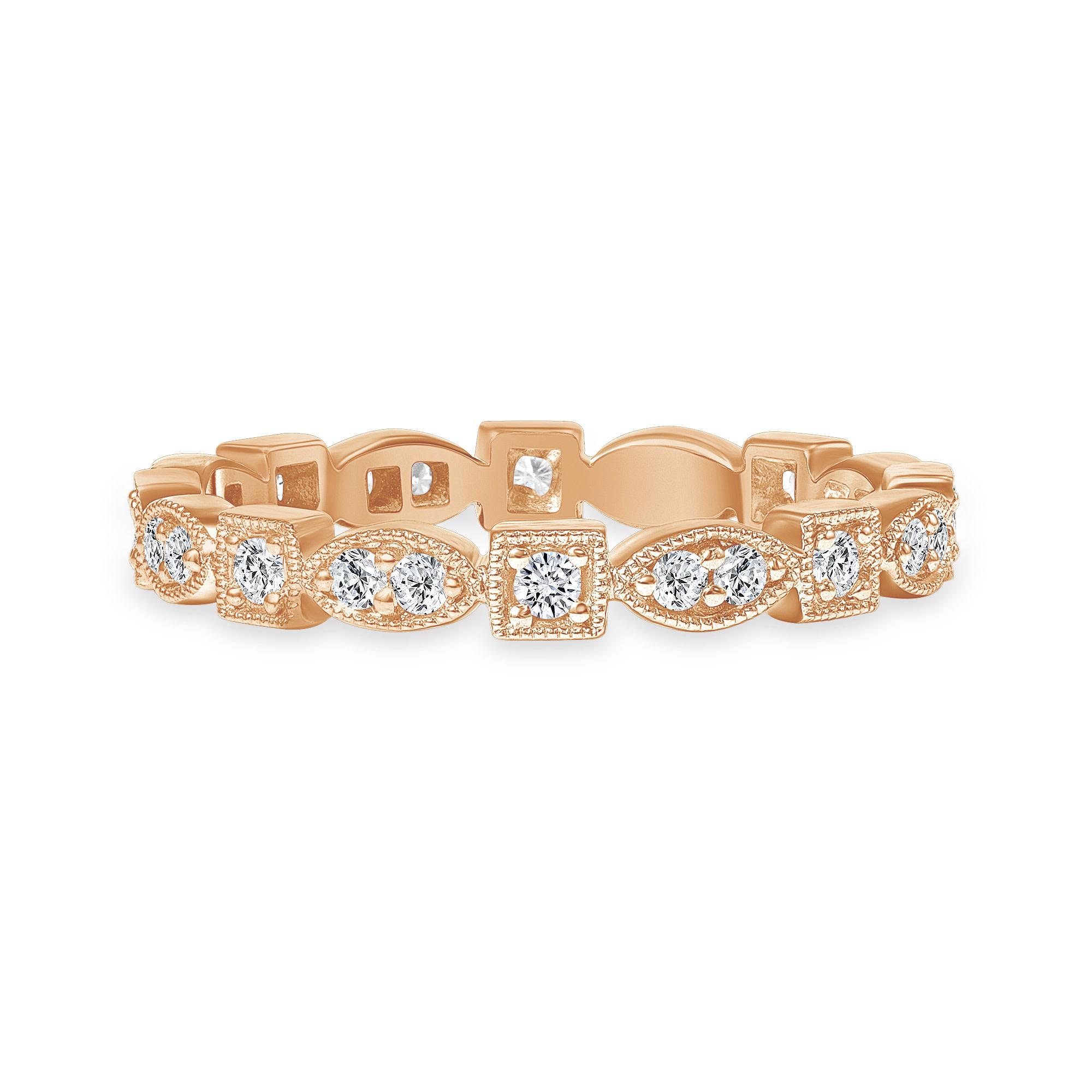 fancy wedding ring rose gold