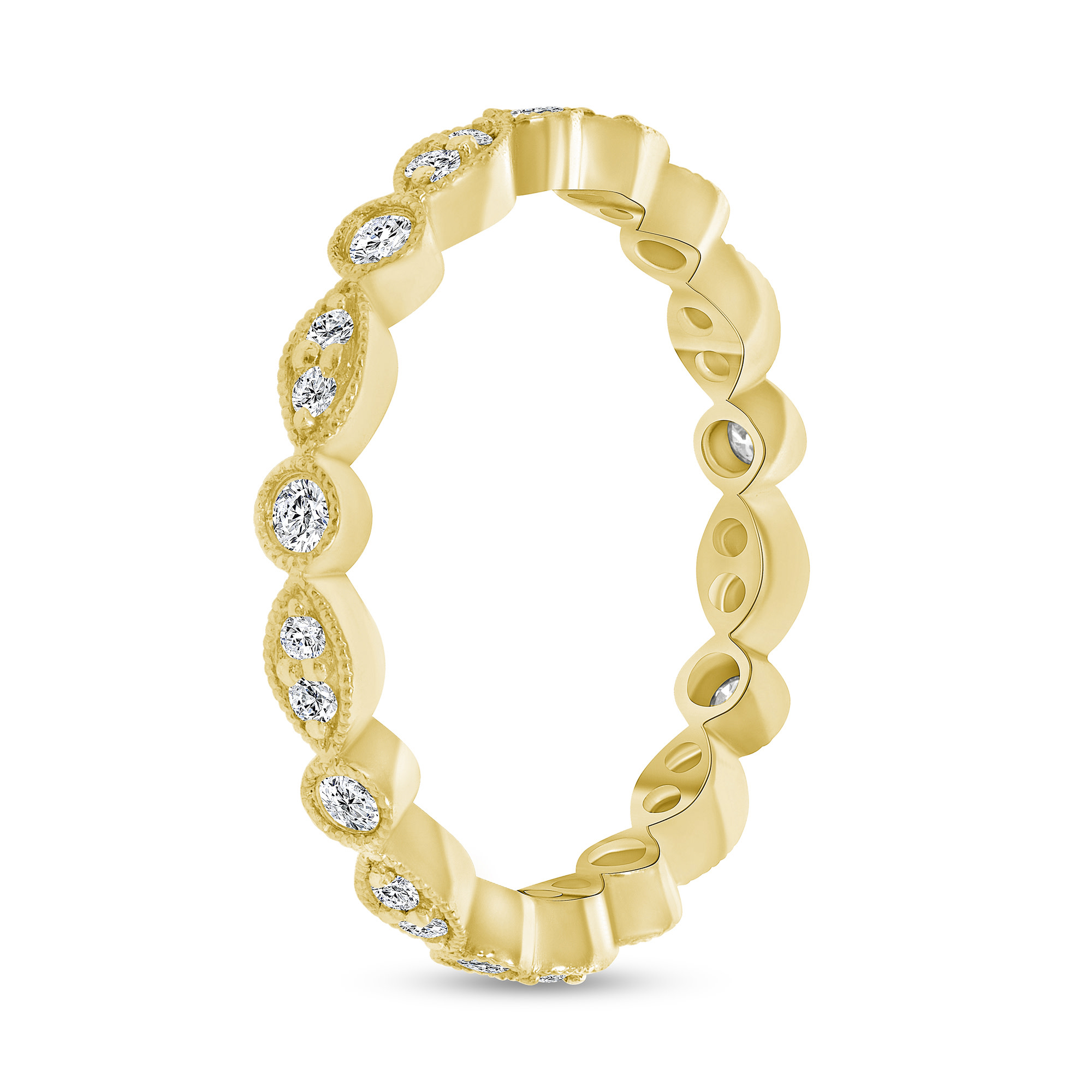giant diamond stacking wedding ring gold