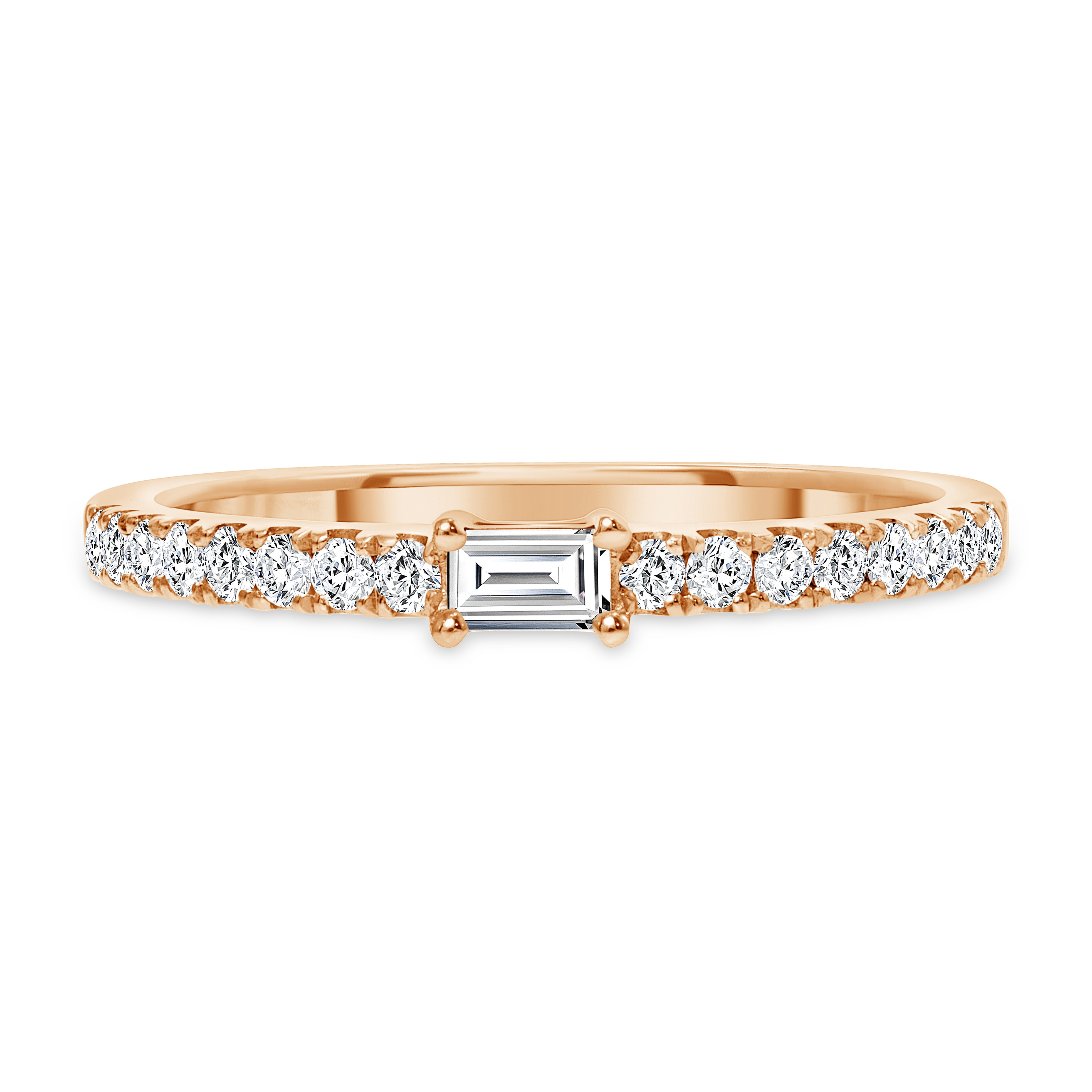 baguette diamond ring band | round and baguette diamond ring