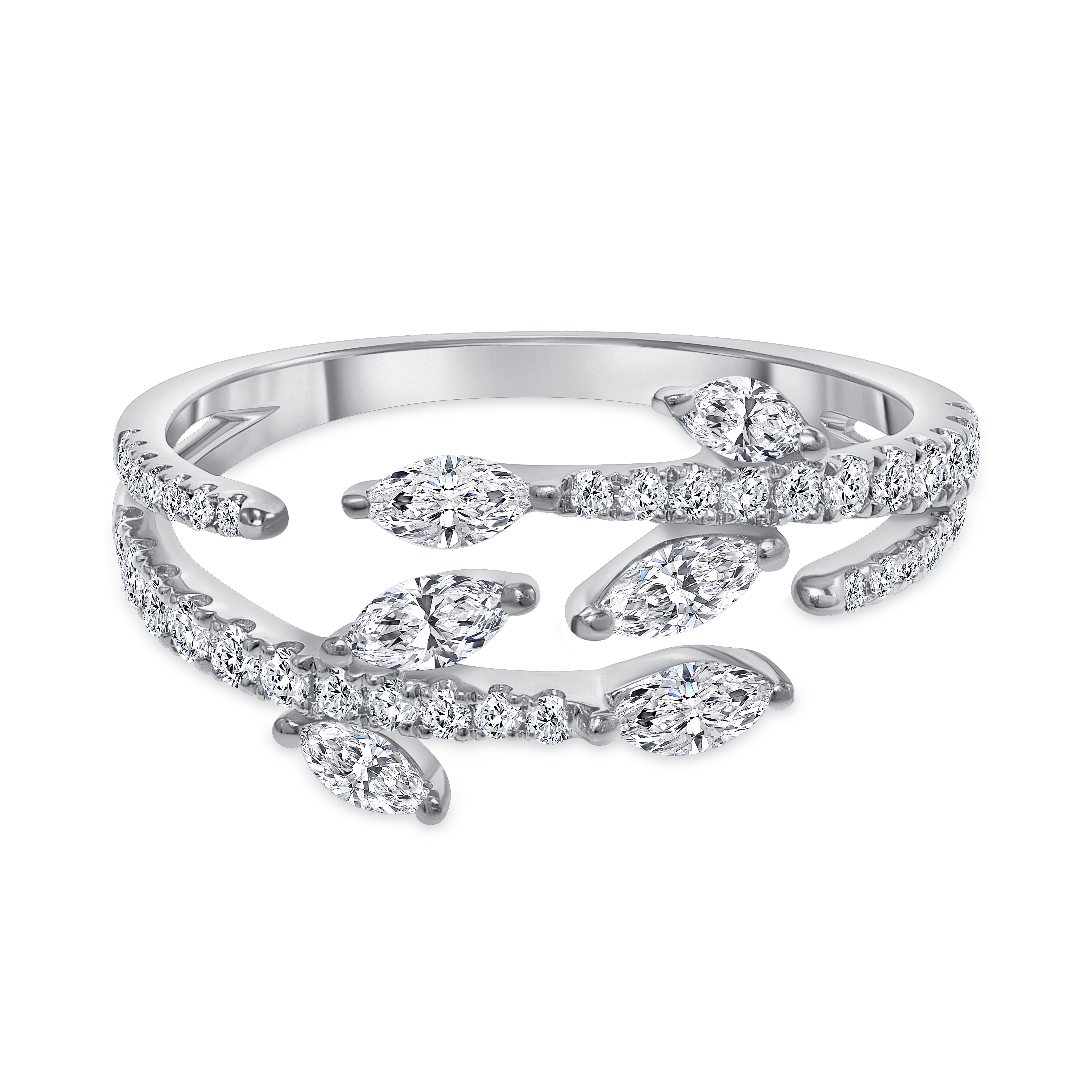marquise diamond wedding ring in 14k yellow gold | marquise diamond wedding ring in 14k white gold