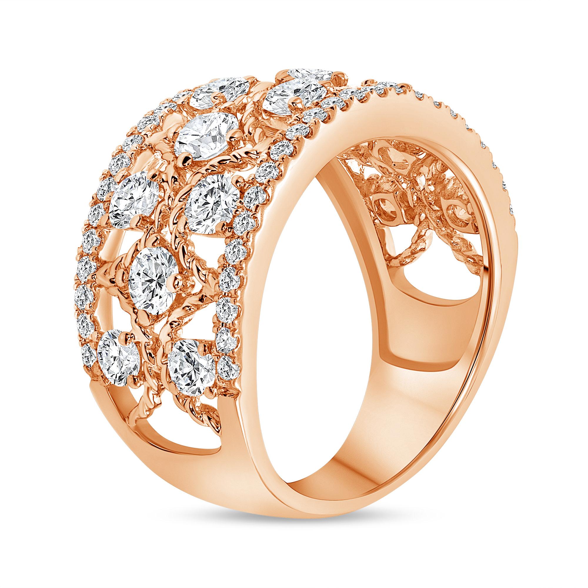 diamond fashion rings rose gold