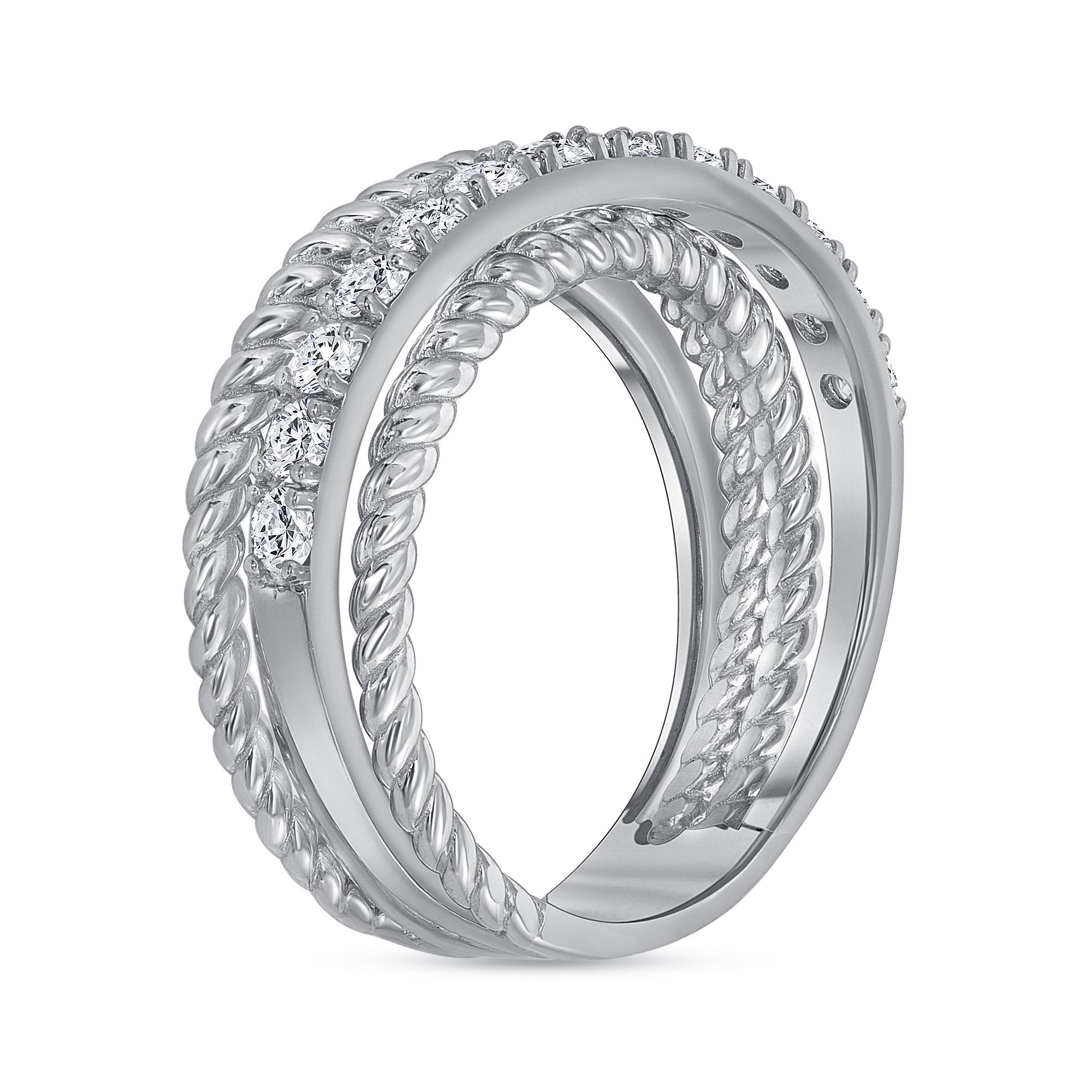 white gold layered diamond wedding ring