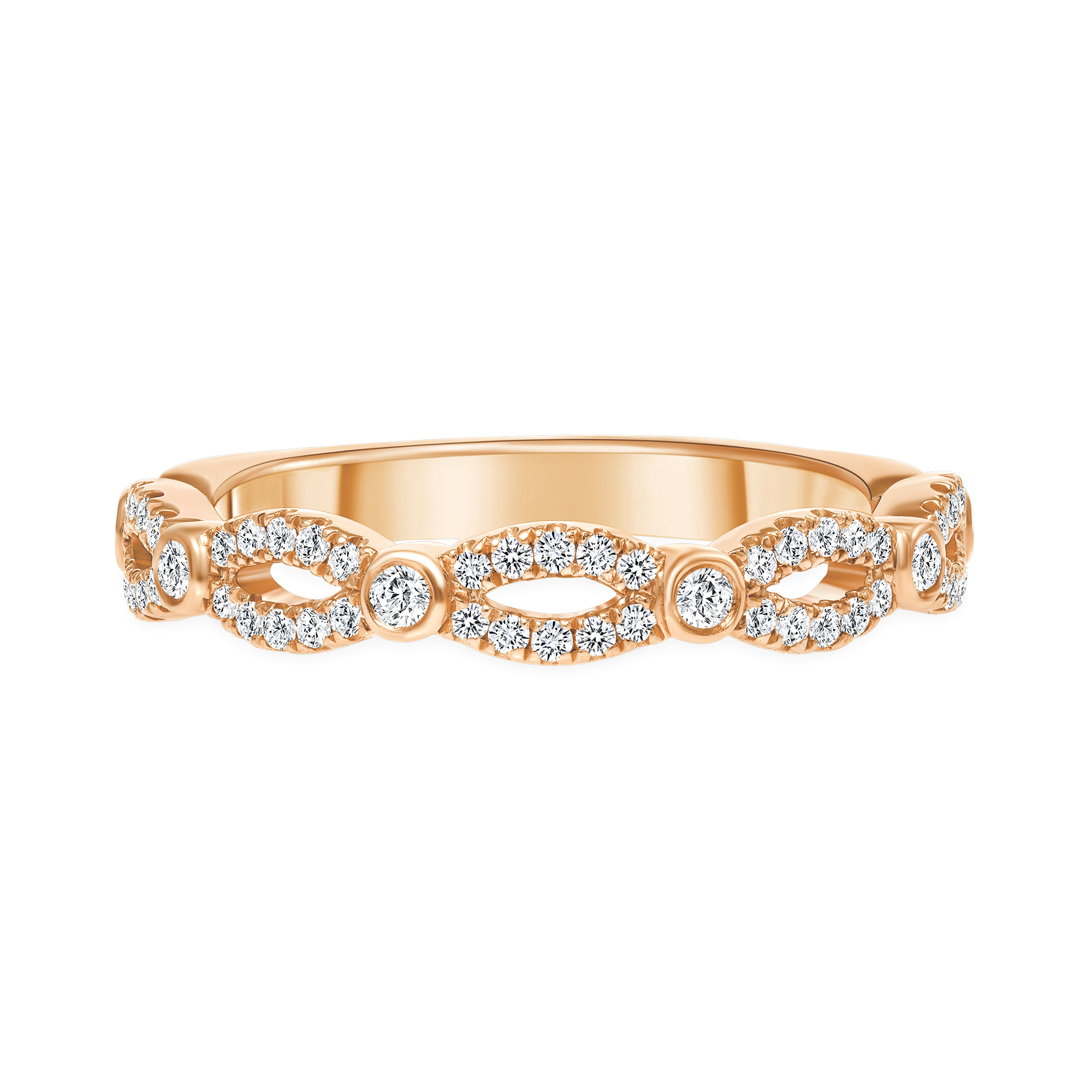 stackable diamond ring   gold diamond stackable rings