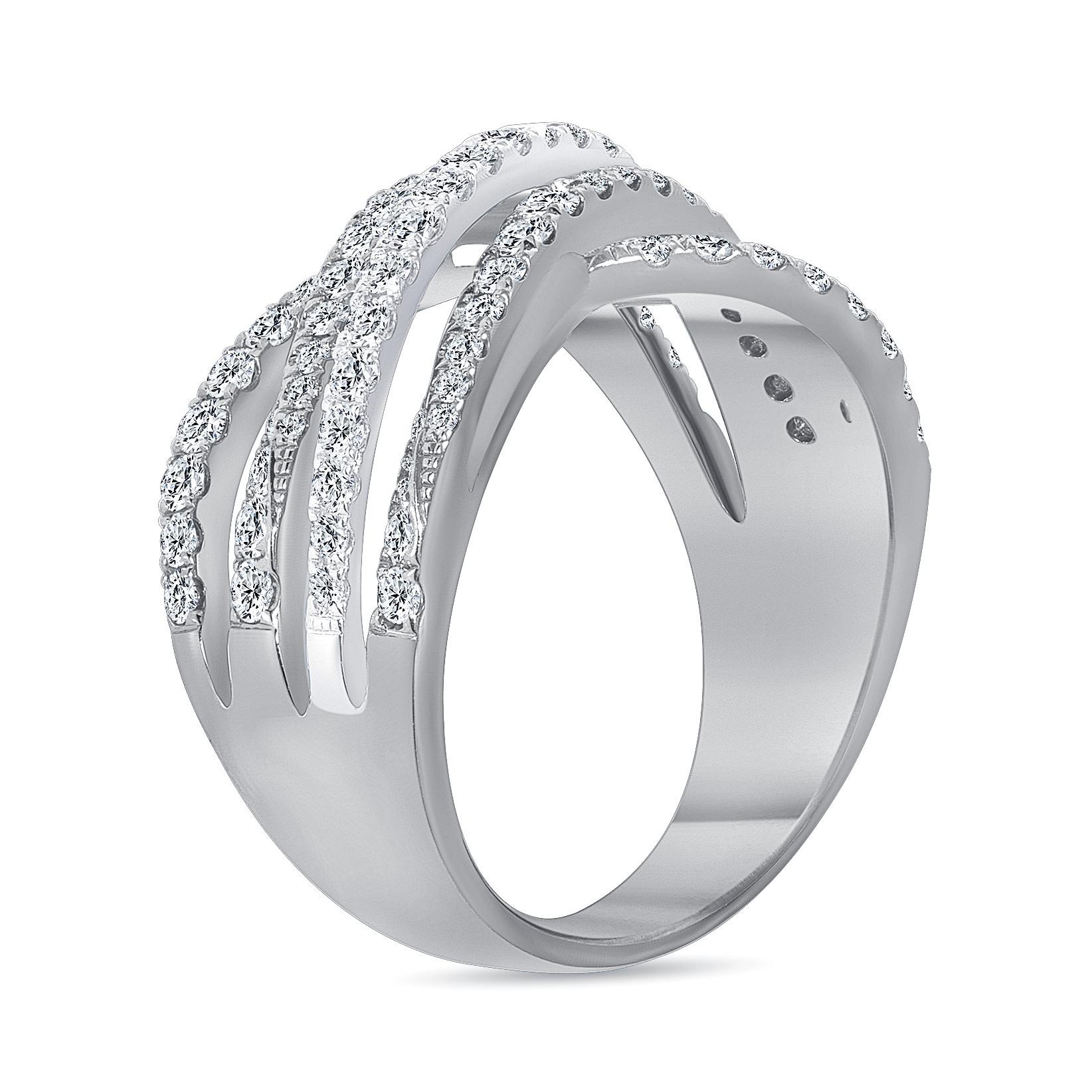 infinity diamond wedding ring white gold