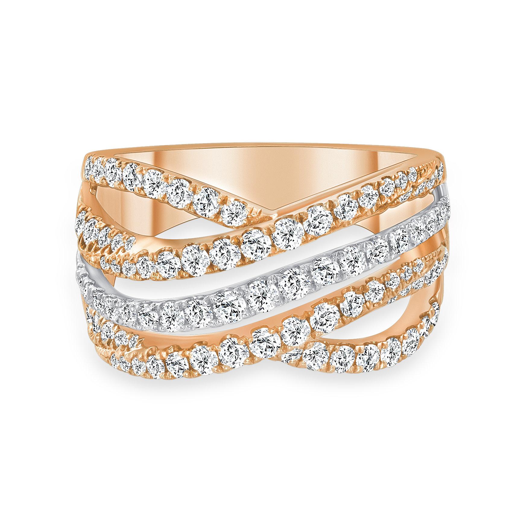 infinity diamond wedding ring rose gold