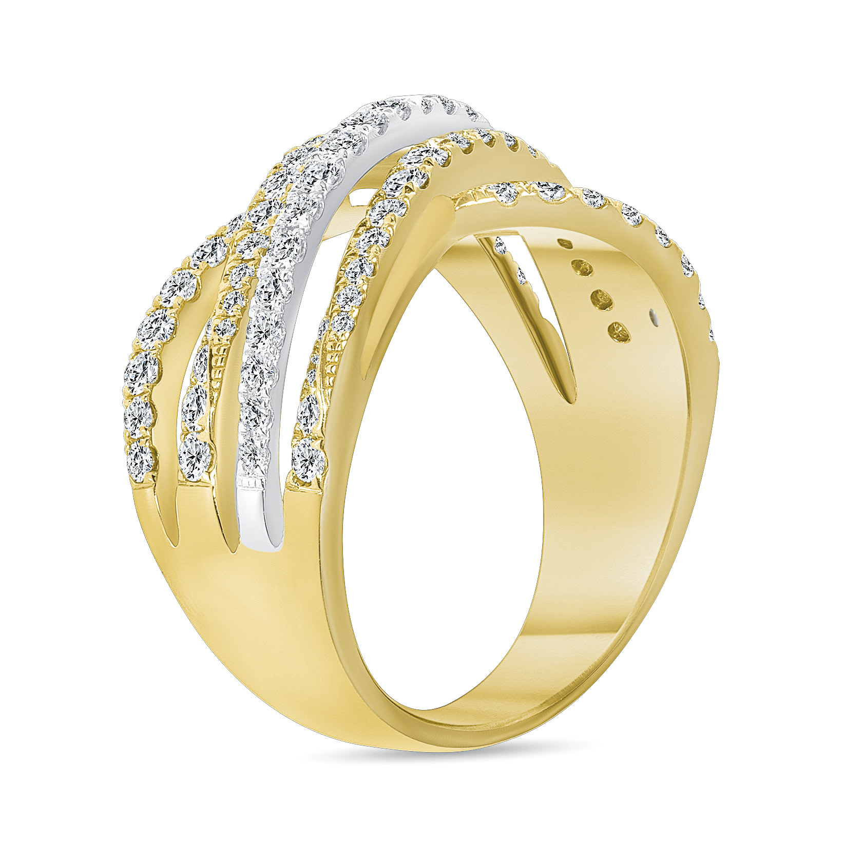 infinity diamond wedding ring gold