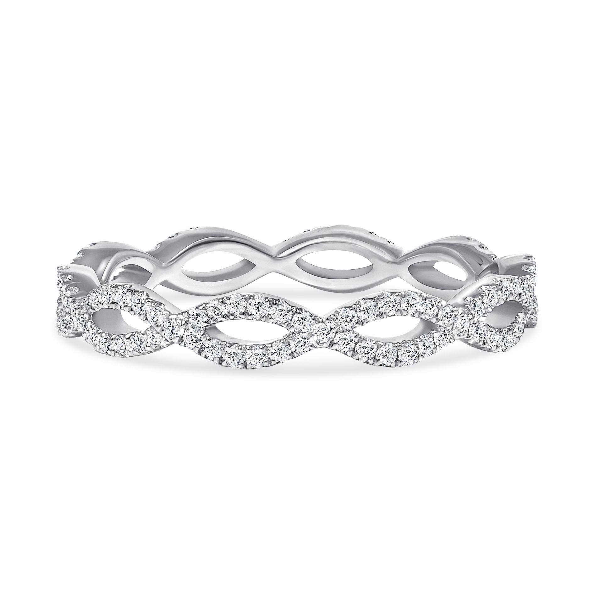 white gold swirl diamond wedding ring