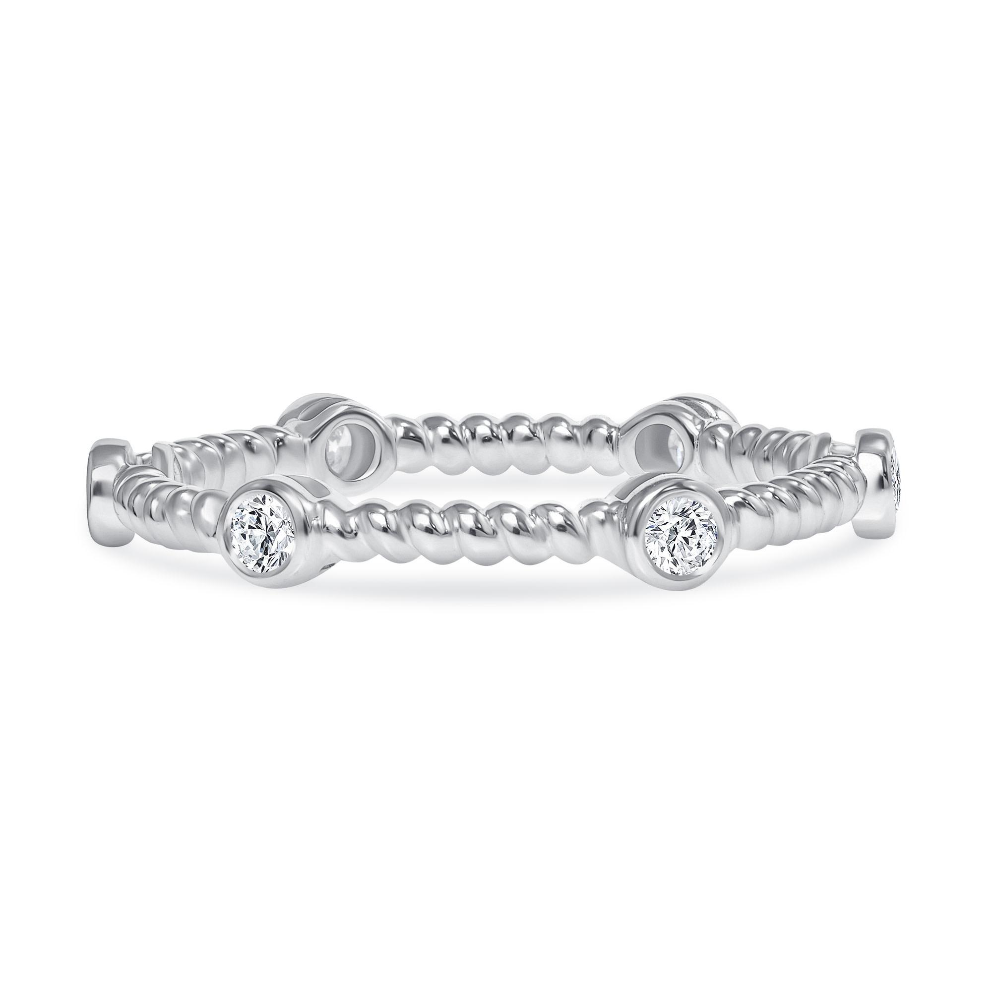 rope diamond wedding rings