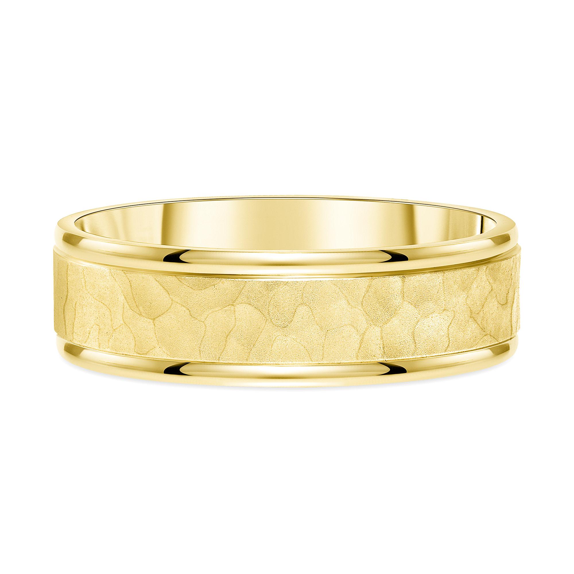 14k gold hammered wedding band   14k mens wedding band