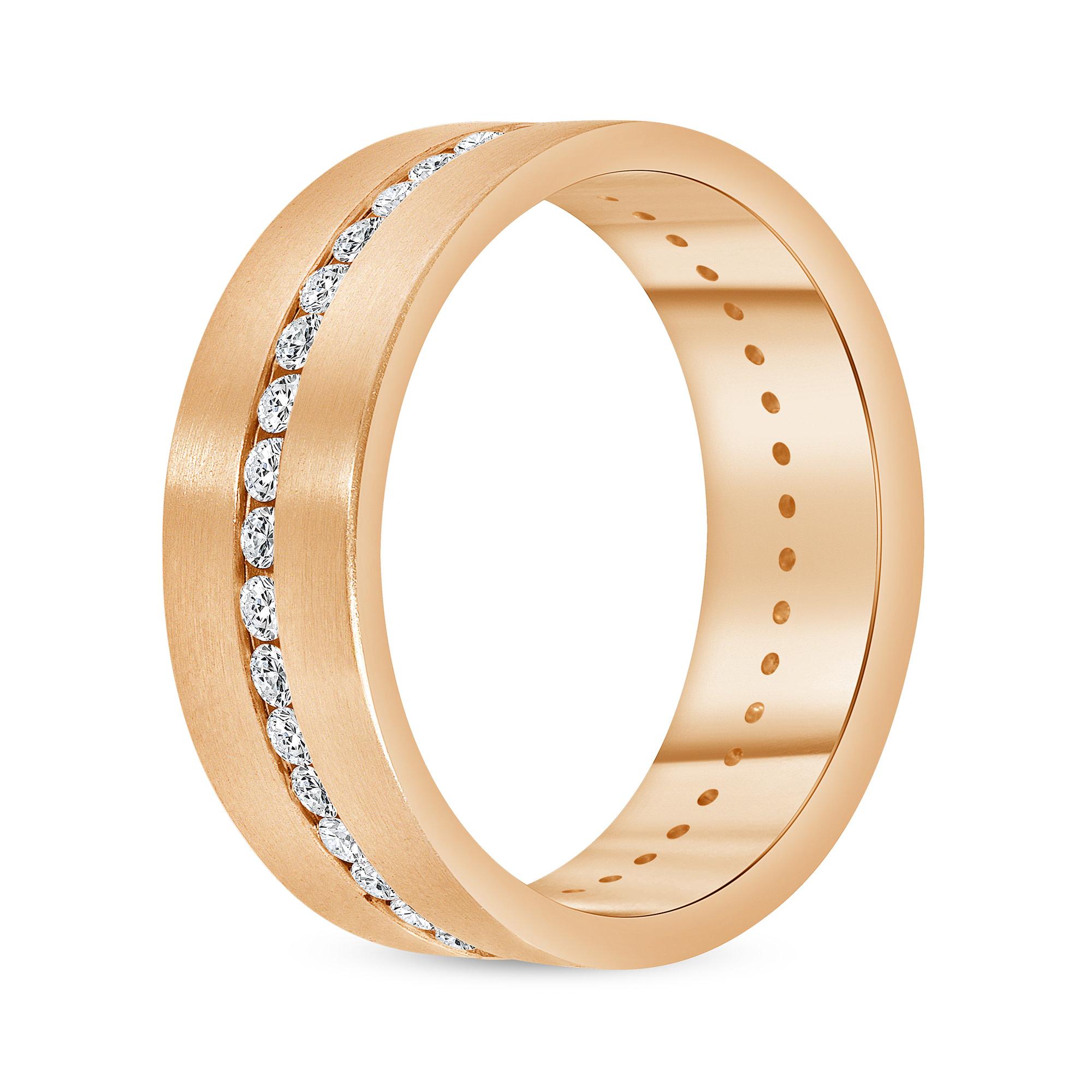 diamond eternity band yellow gold | rose gold diamond eternity band