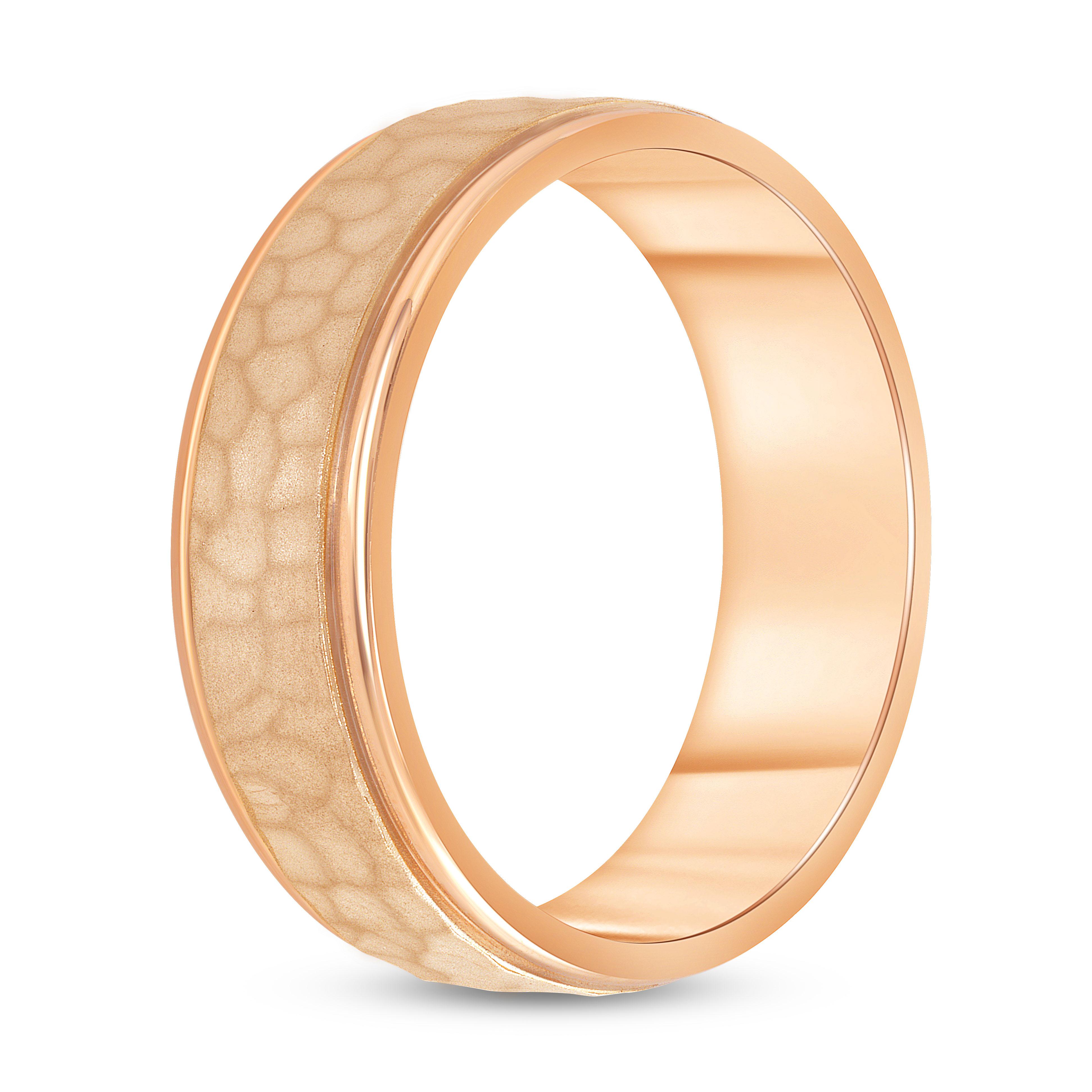 hammered gold wedding band