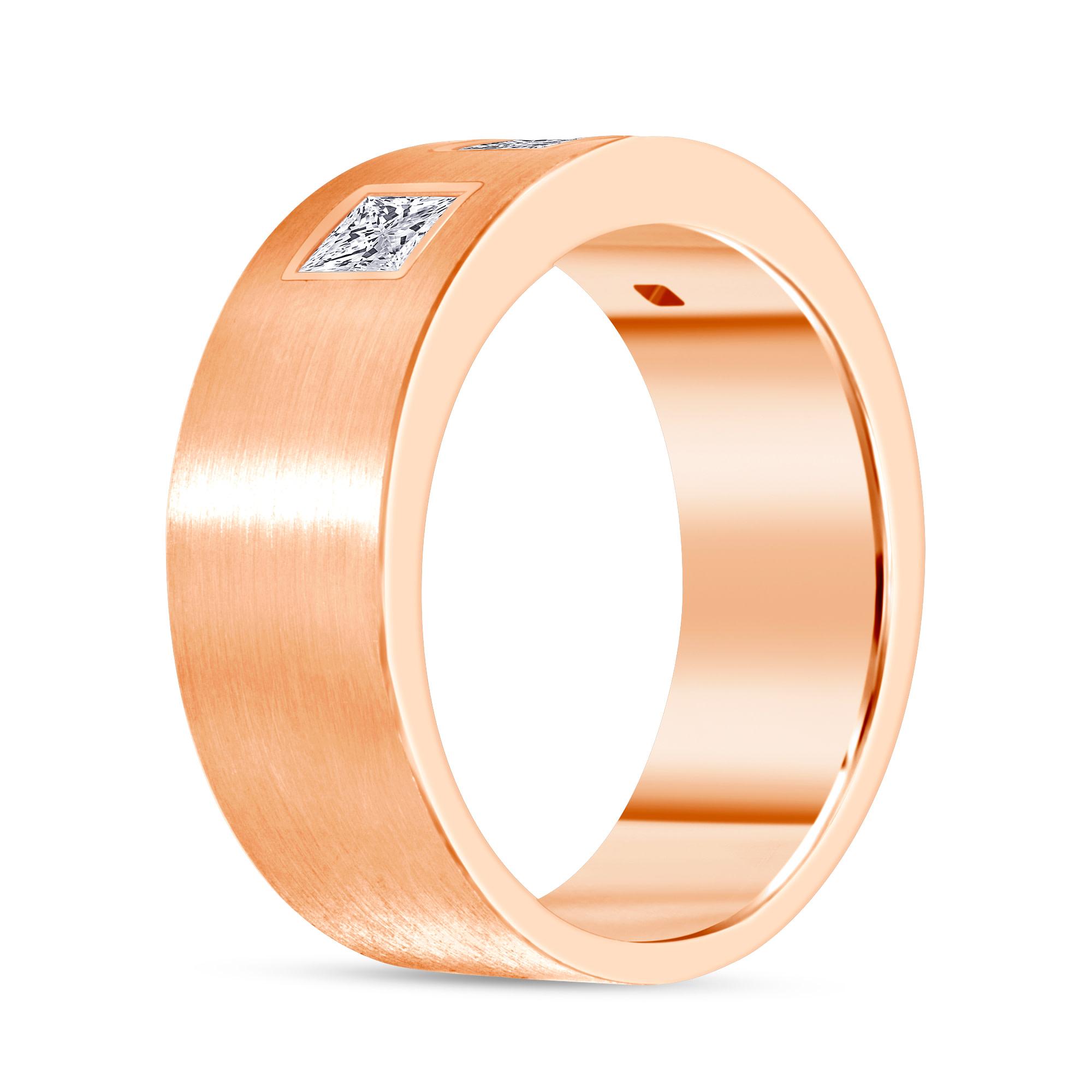 princess diamond band rose gold
