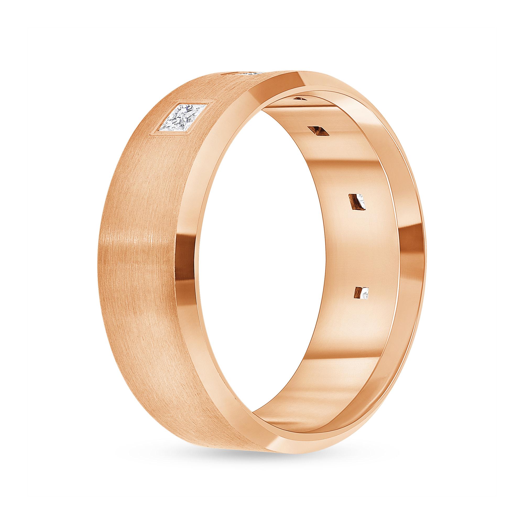 6 stone diamond band rose gold