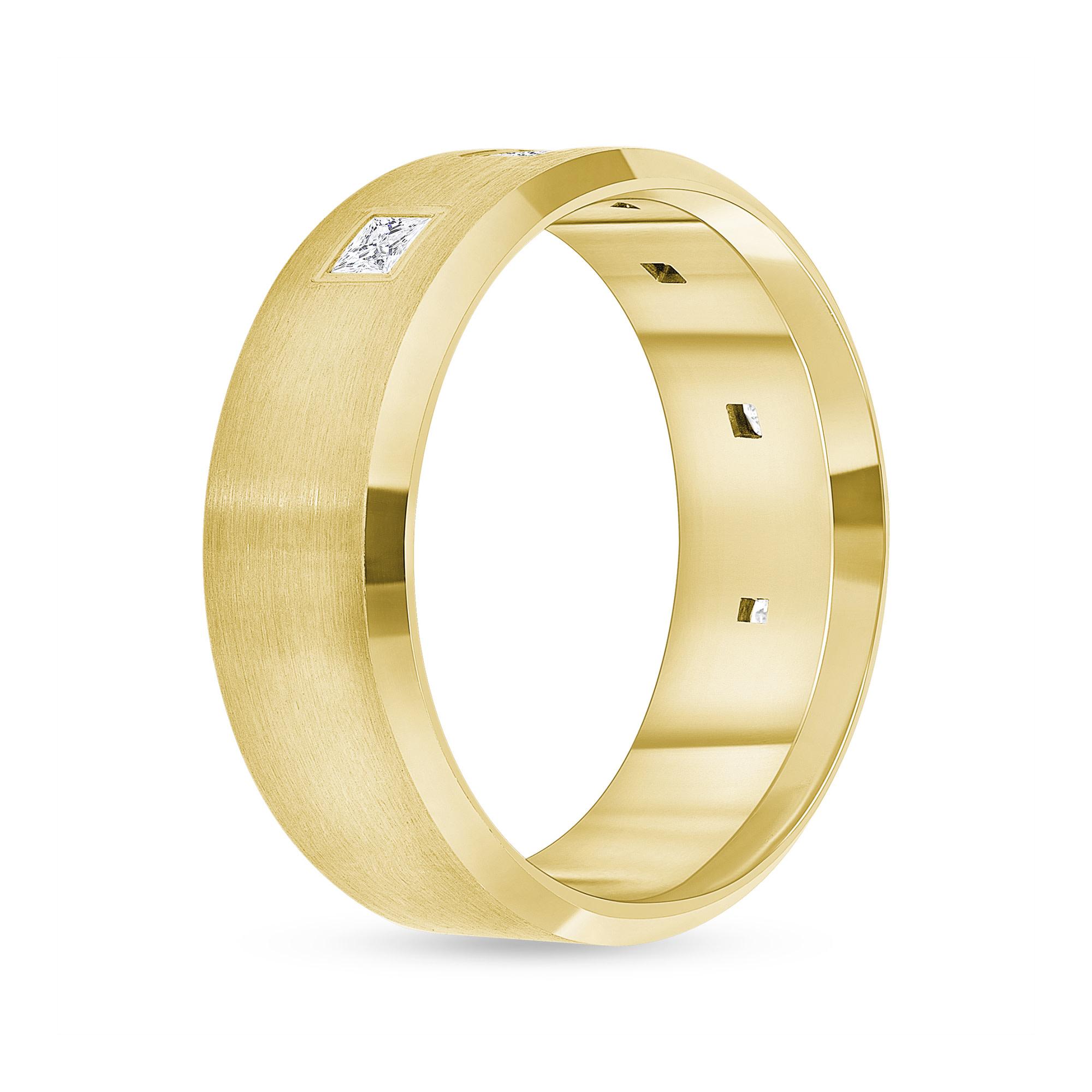 6 stone diamond band gold