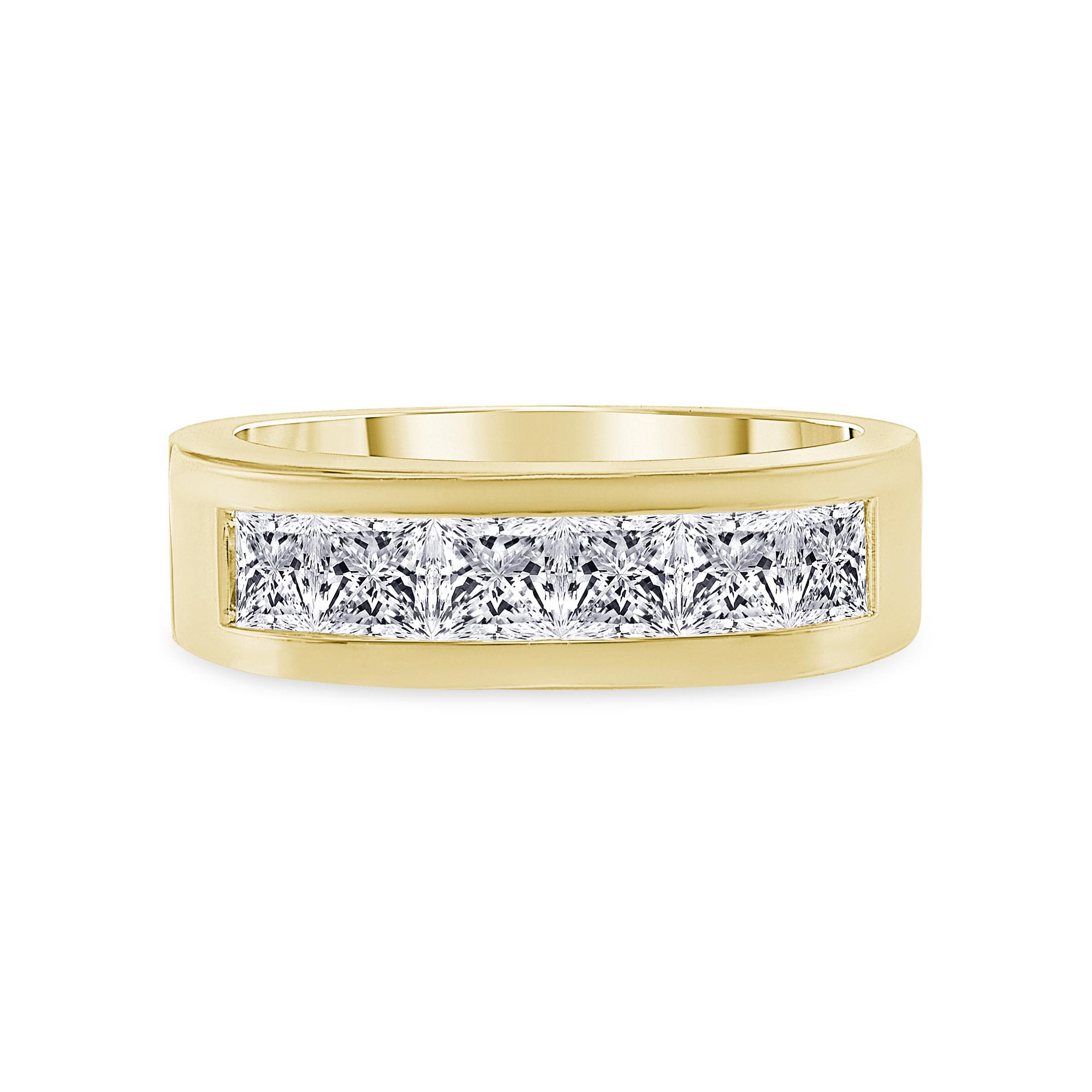 multi diamond unique band gold