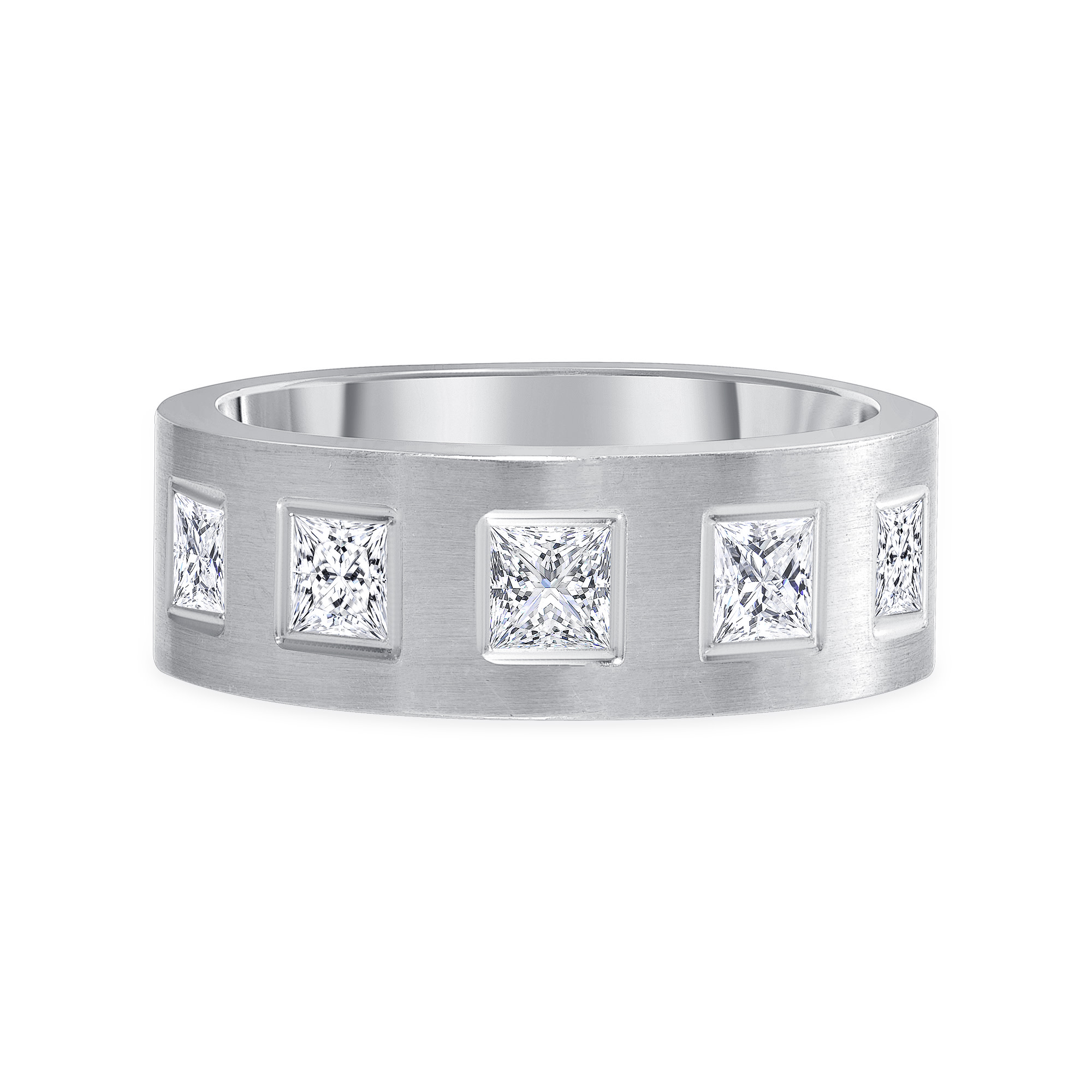 5 diamond band | 5 stone diamond band